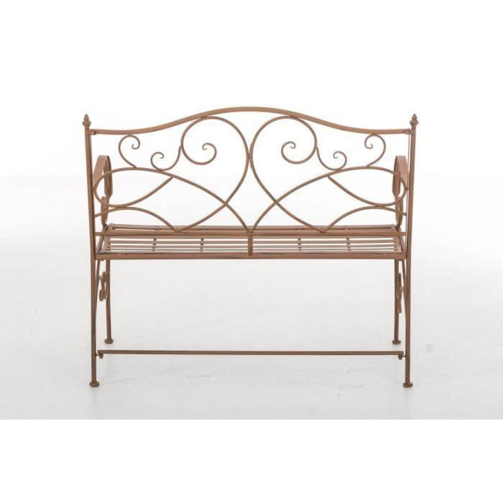 clp banc pour jardin romantique filiz en fer forg style maison de campagne en m tal 104 x 52. Black Bedroom Furniture Sets. Home Design Ideas