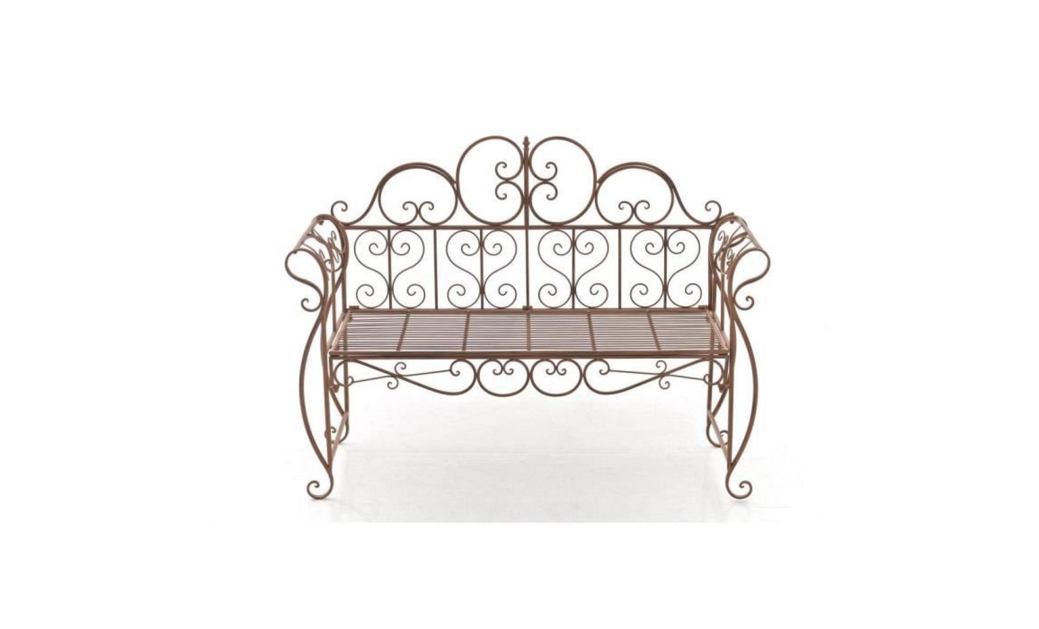 clp banquette de jardin antique minna en fer forg laqu. Black Bedroom Furniture Sets. Home Design Ideas