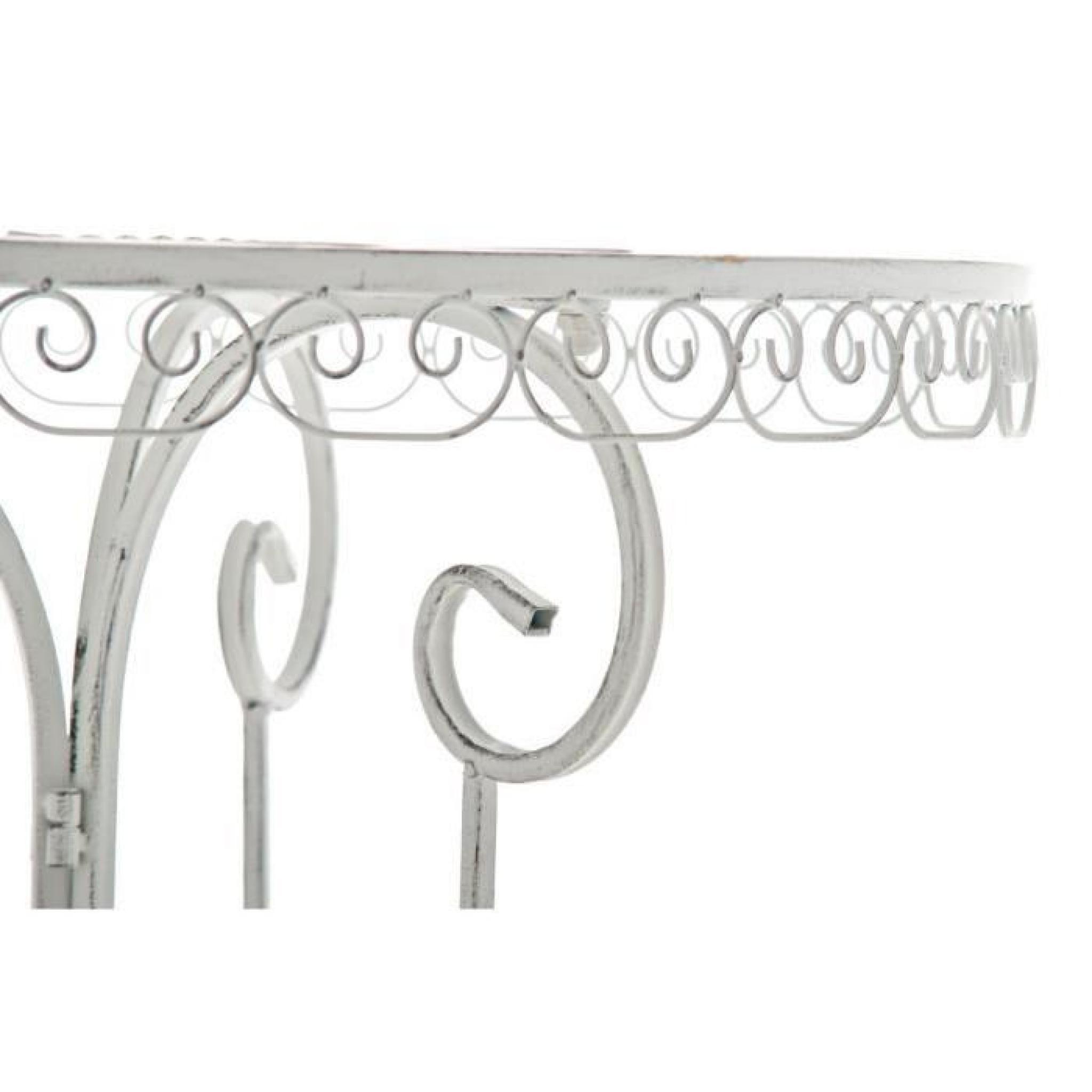 CLP Table de jardin ronde en fer forgé MINORE, faite à la main dans ...