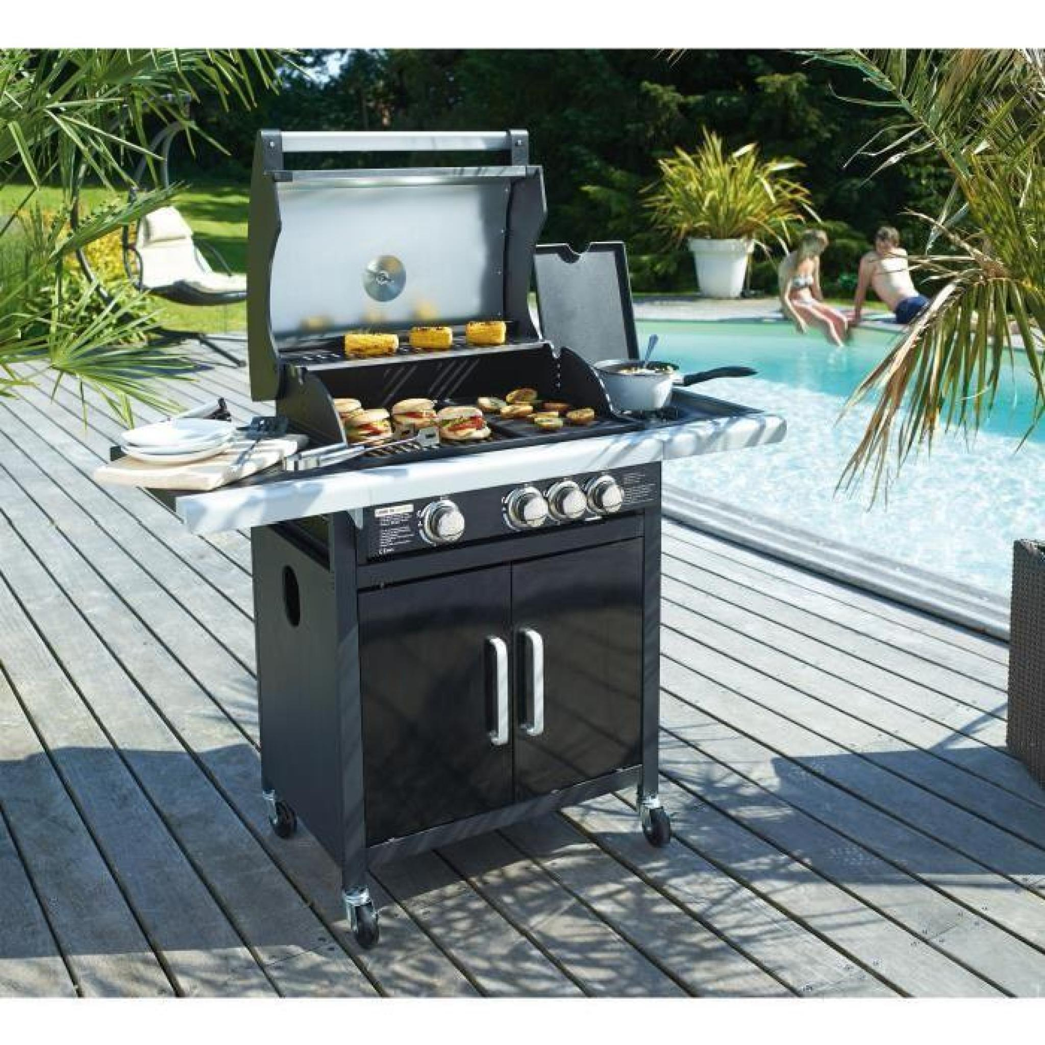 COOK'IN GARDEN Barbecue américain à gaz Fidgi 5 brûleurs