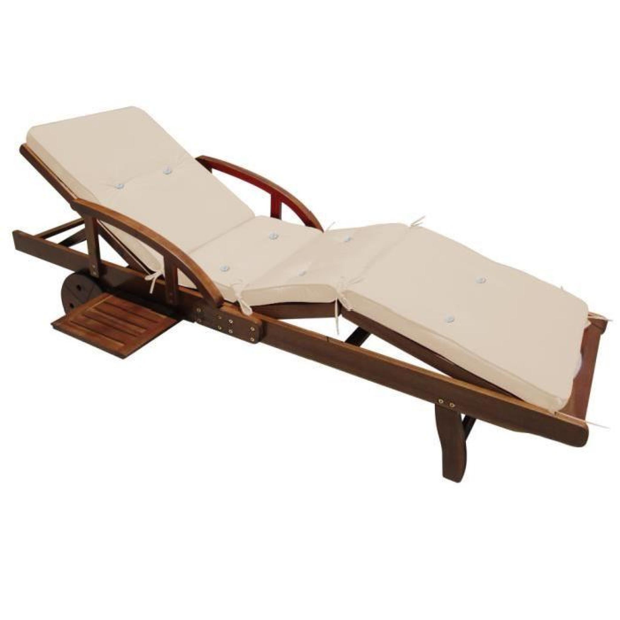 coussin pour chaise longue cr me 195 cm achat vente. Black Bedroom Furniture Sets. Home Design Ideas
