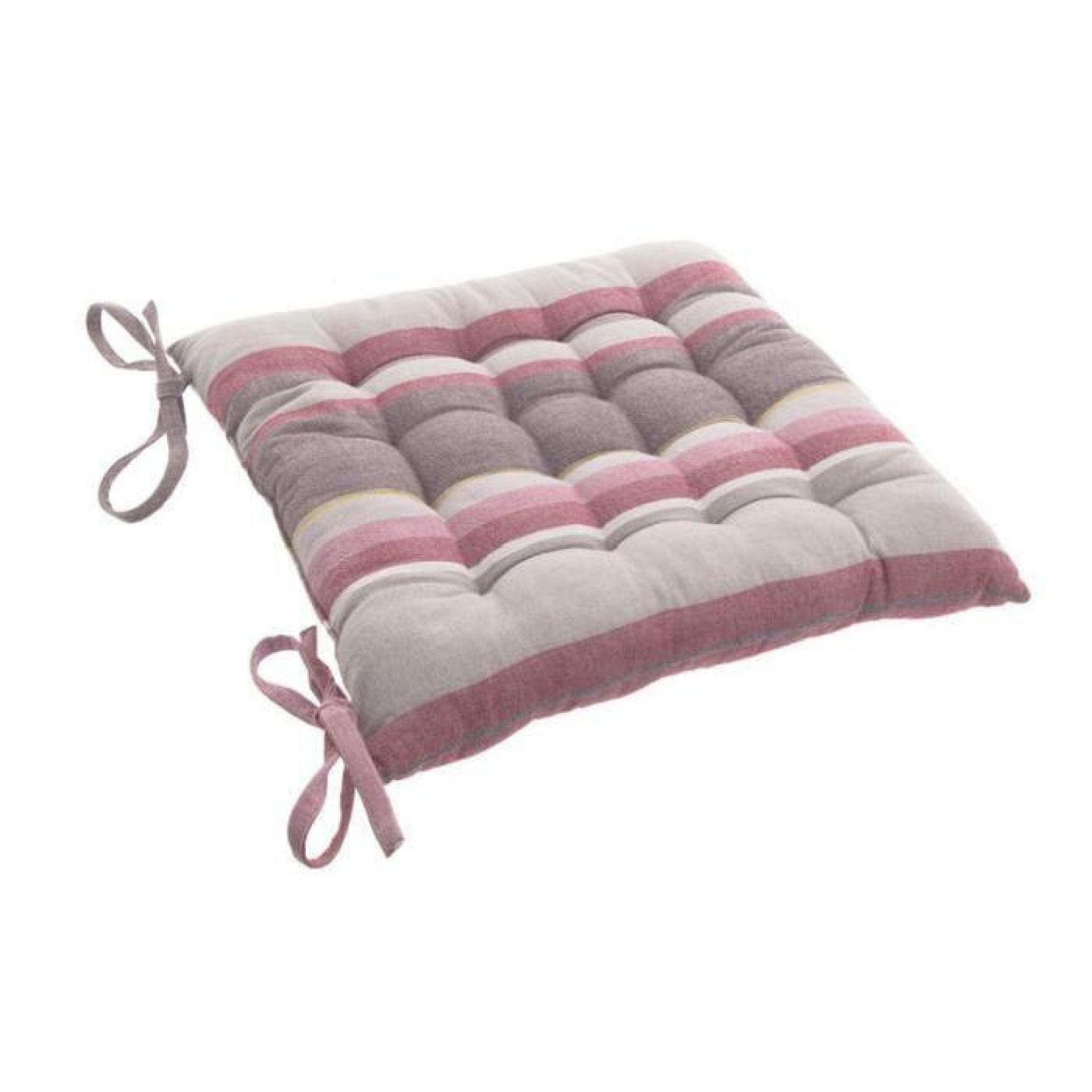 Coussin de chaise Rayure Rose