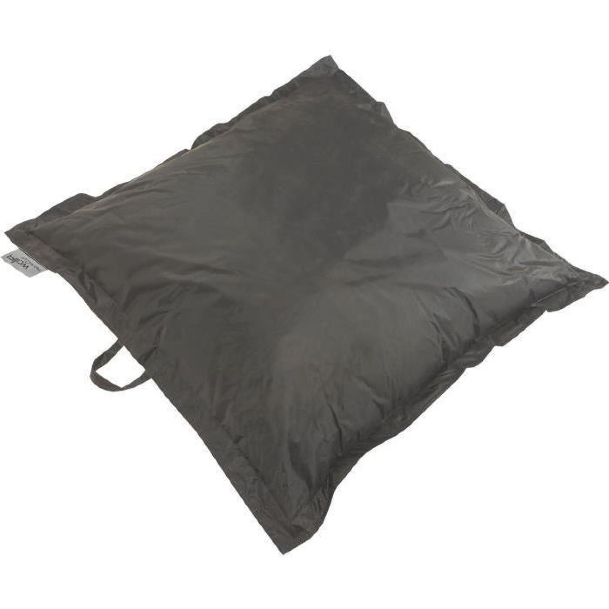 coussin pouf xxl imperm able turquoise 120x120 cm achat vente pouf exterieur pas cher. Black Bedroom Furniture Sets. Home Design Ideas