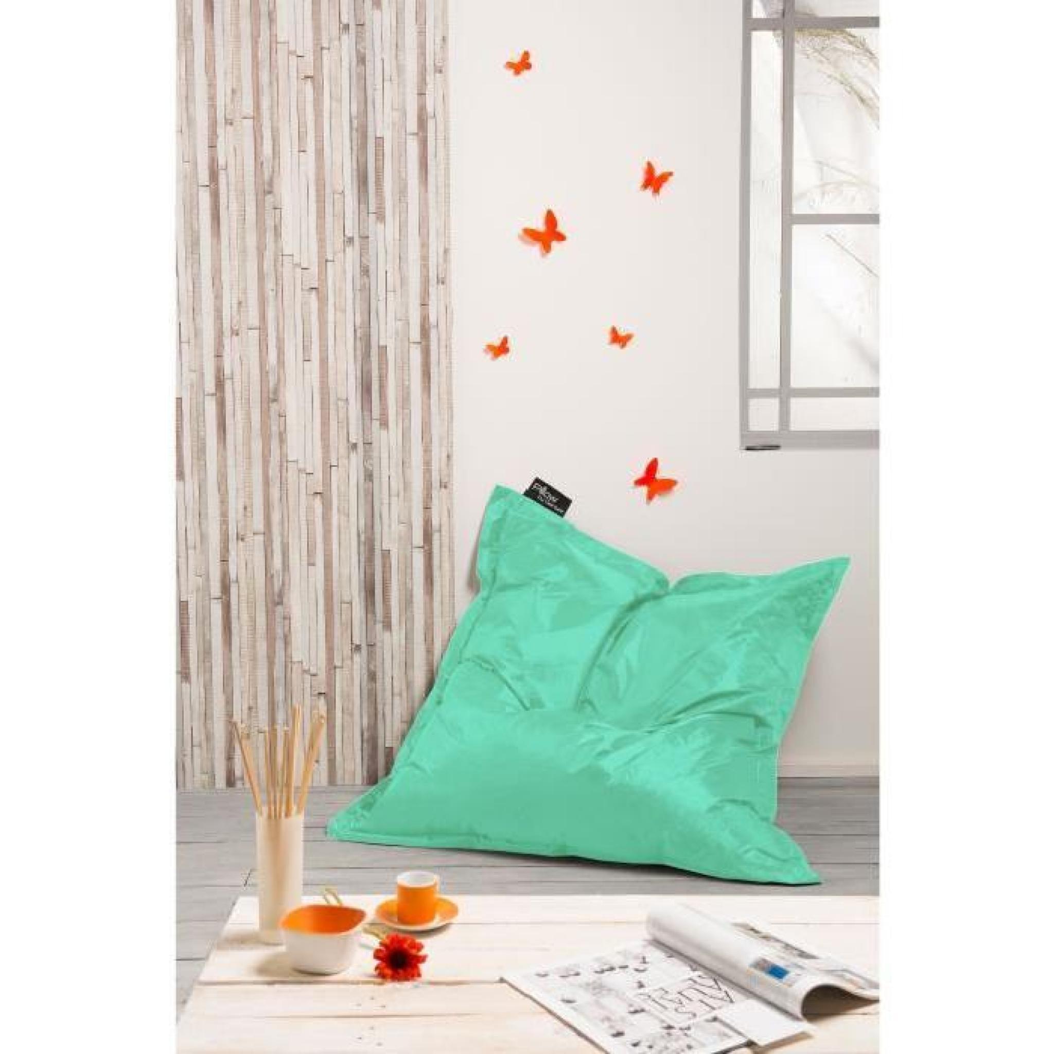 coussin pouf xxl imperm able turquoise 120x120 cm achat. Black Bedroom Furniture Sets. Home Design Ideas