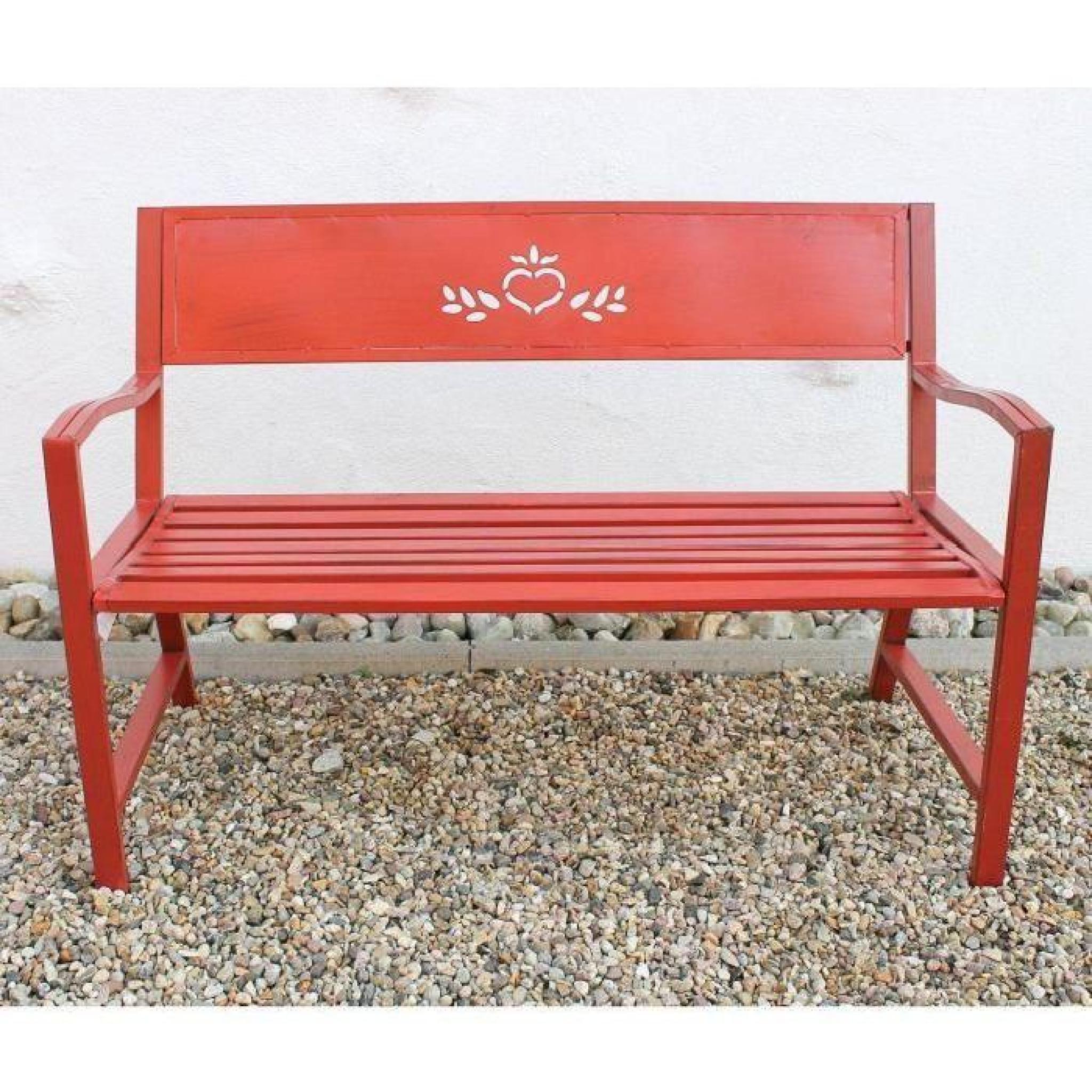 dandibo banc passion banc de jardin rot 121496 banquette. Black Bedroom Furniture Sets. Home Design Ideas