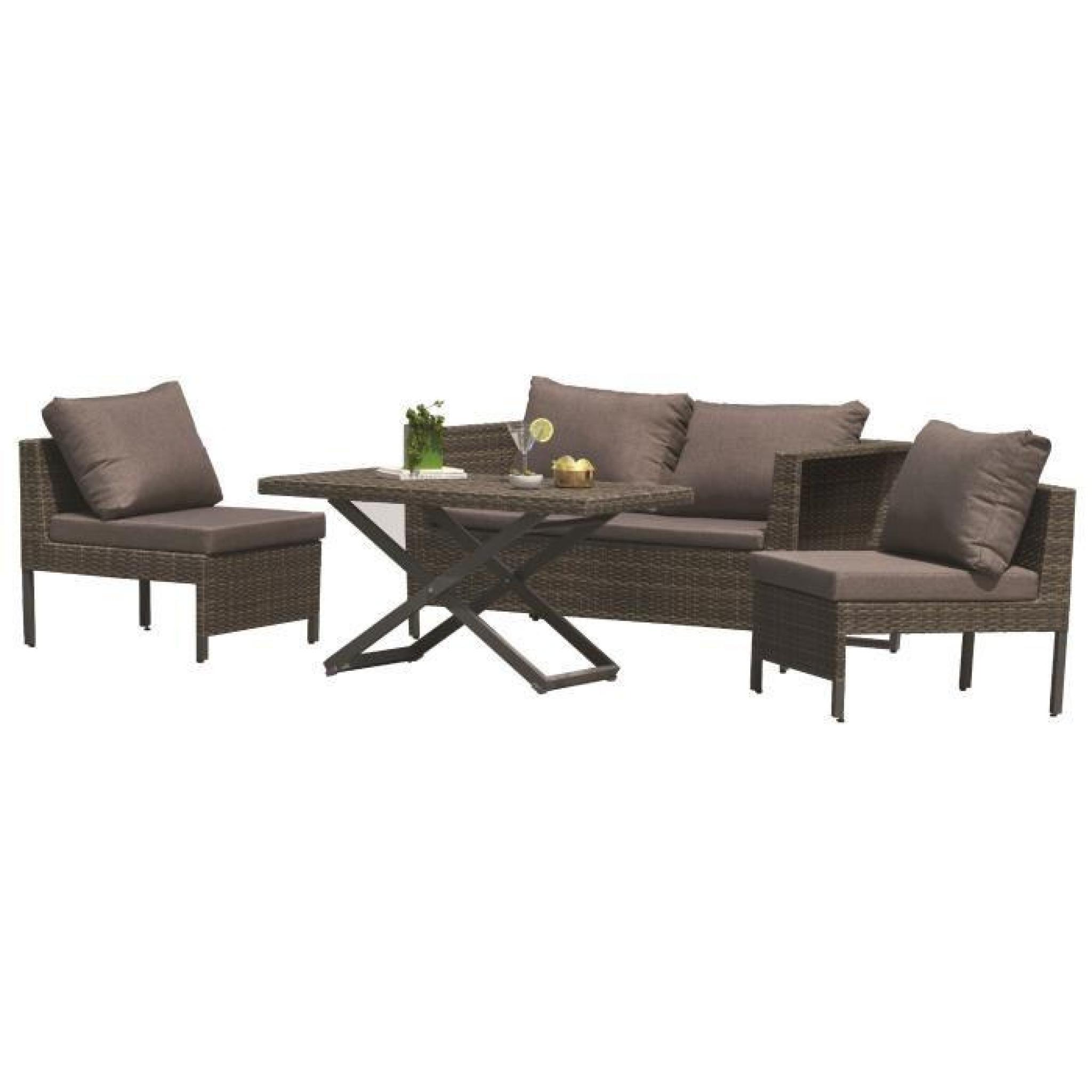 dcb garden salon de jardin modulo 1 table basse 1 canap. Black Bedroom Furniture Sets. Home Design Ideas