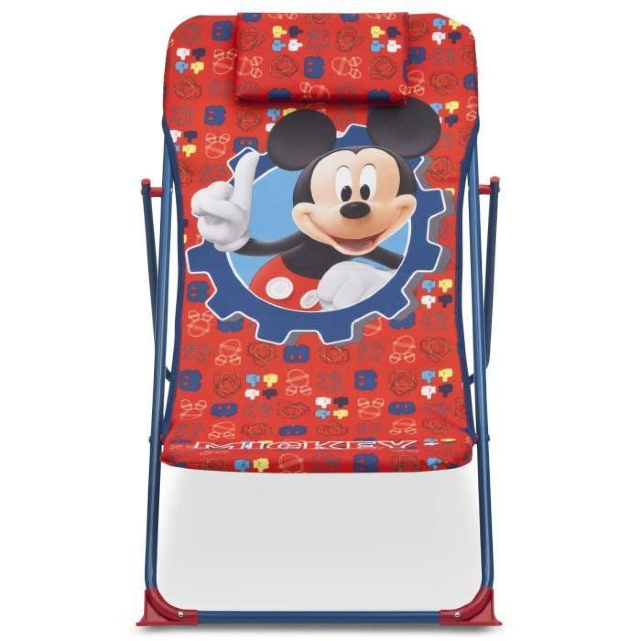 mickey chaise de plage transat enfant achat vente chaise longue enfant pas cher. Black Bedroom Furniture Sets. Home Design Ideas