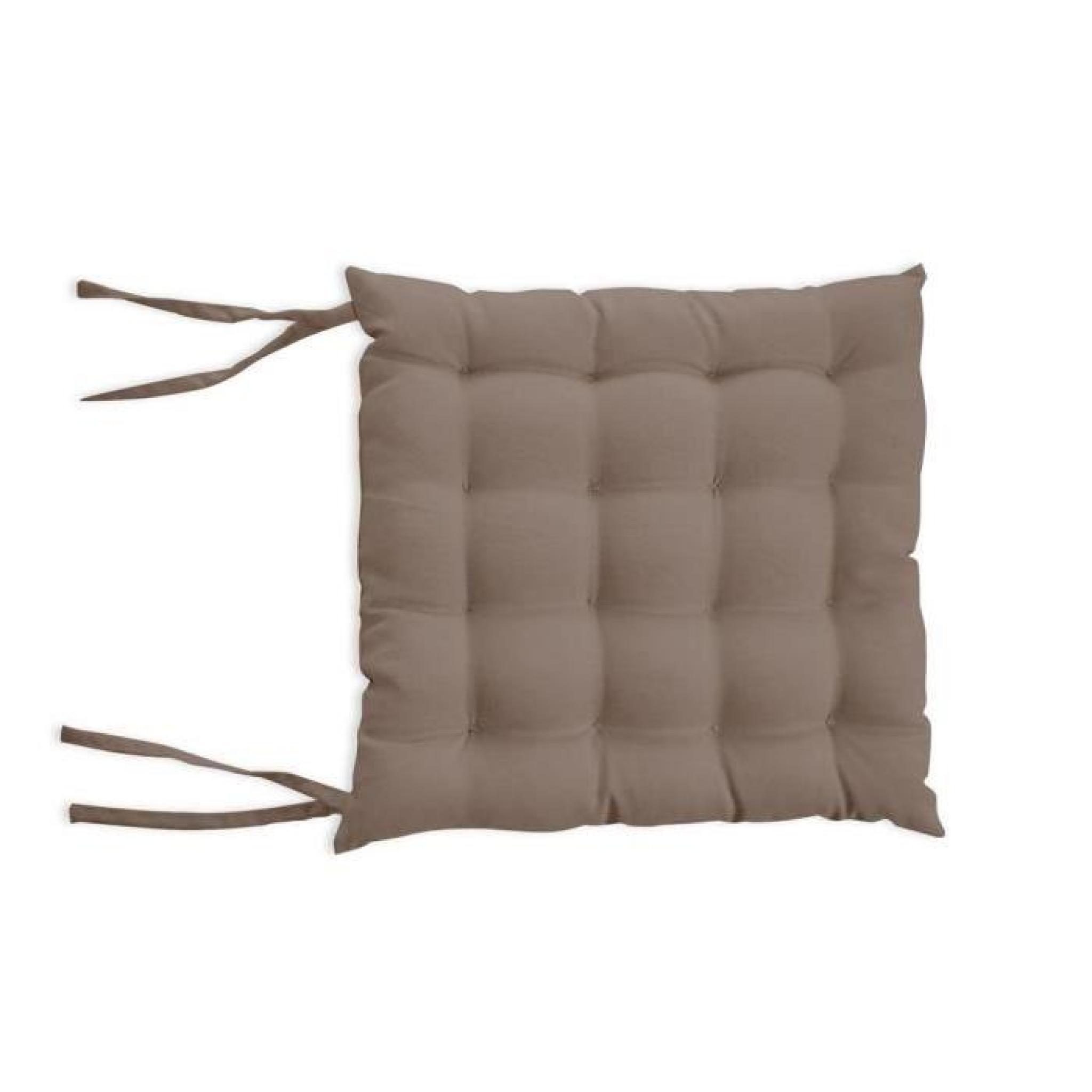 dessus de chaise capitonn alix moka achat vente coussin chaise de jardin pas cher. Black Bedroom Furniture Sets. Home Design Ideas