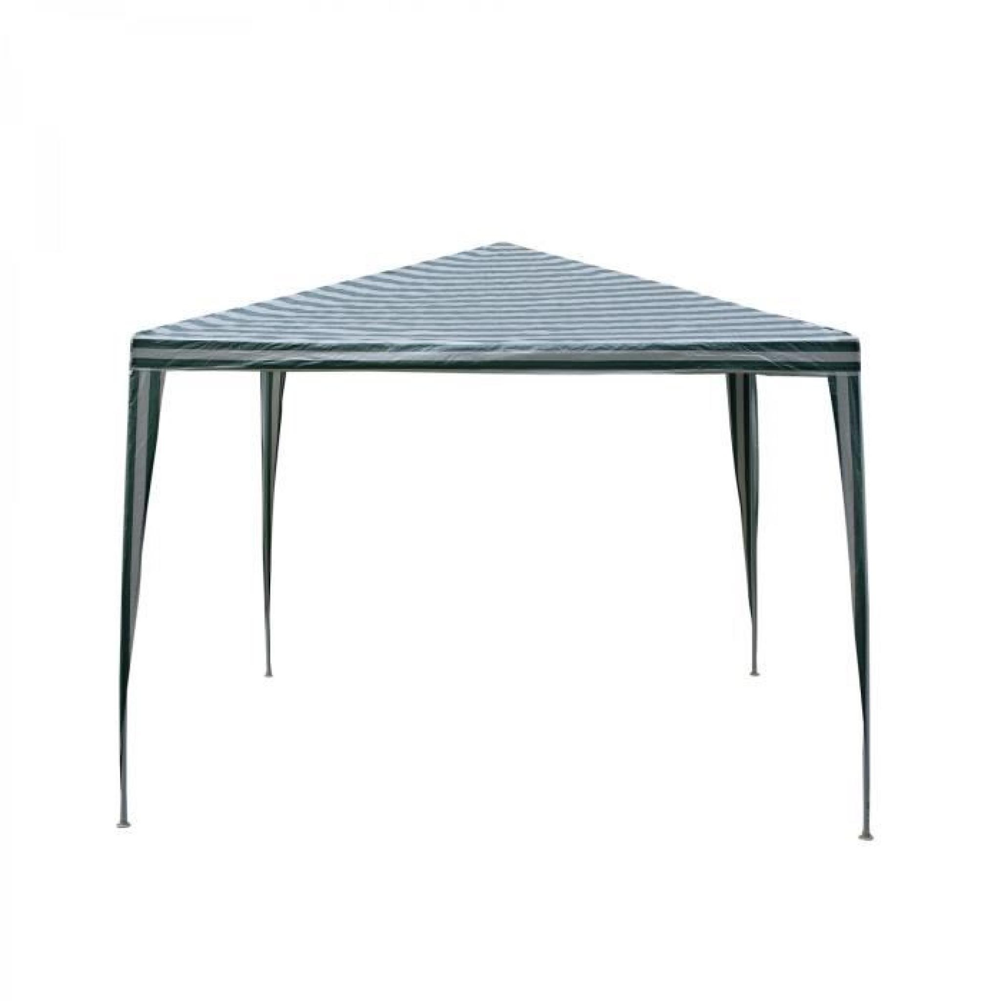 DORAISLAND - Tente de jardin Pergola 3x3m blanc et vert tonnelle ...