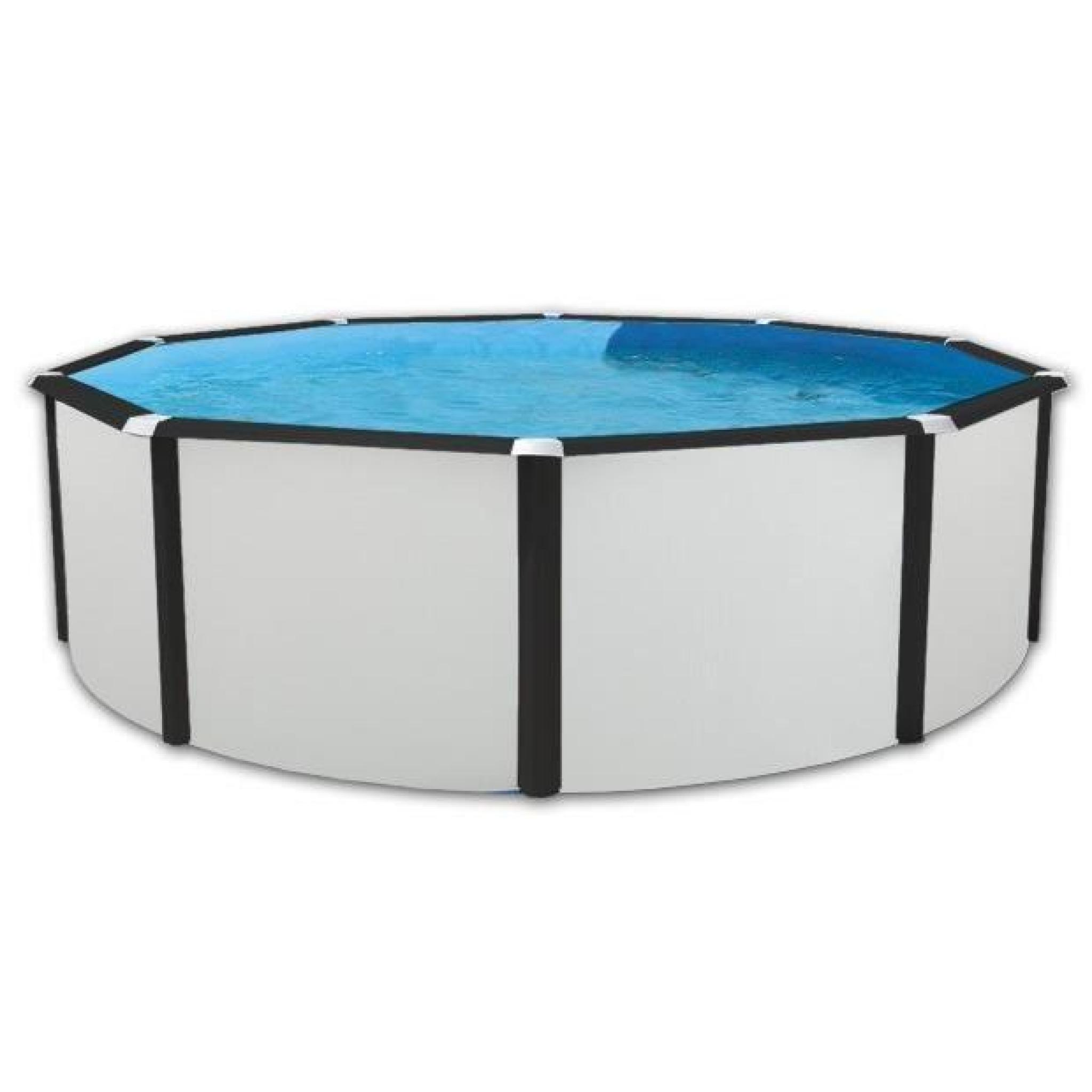 Elegance luna piscine ronde en acier 460x120cm achat - Piscine hors sol acier pas cher ...