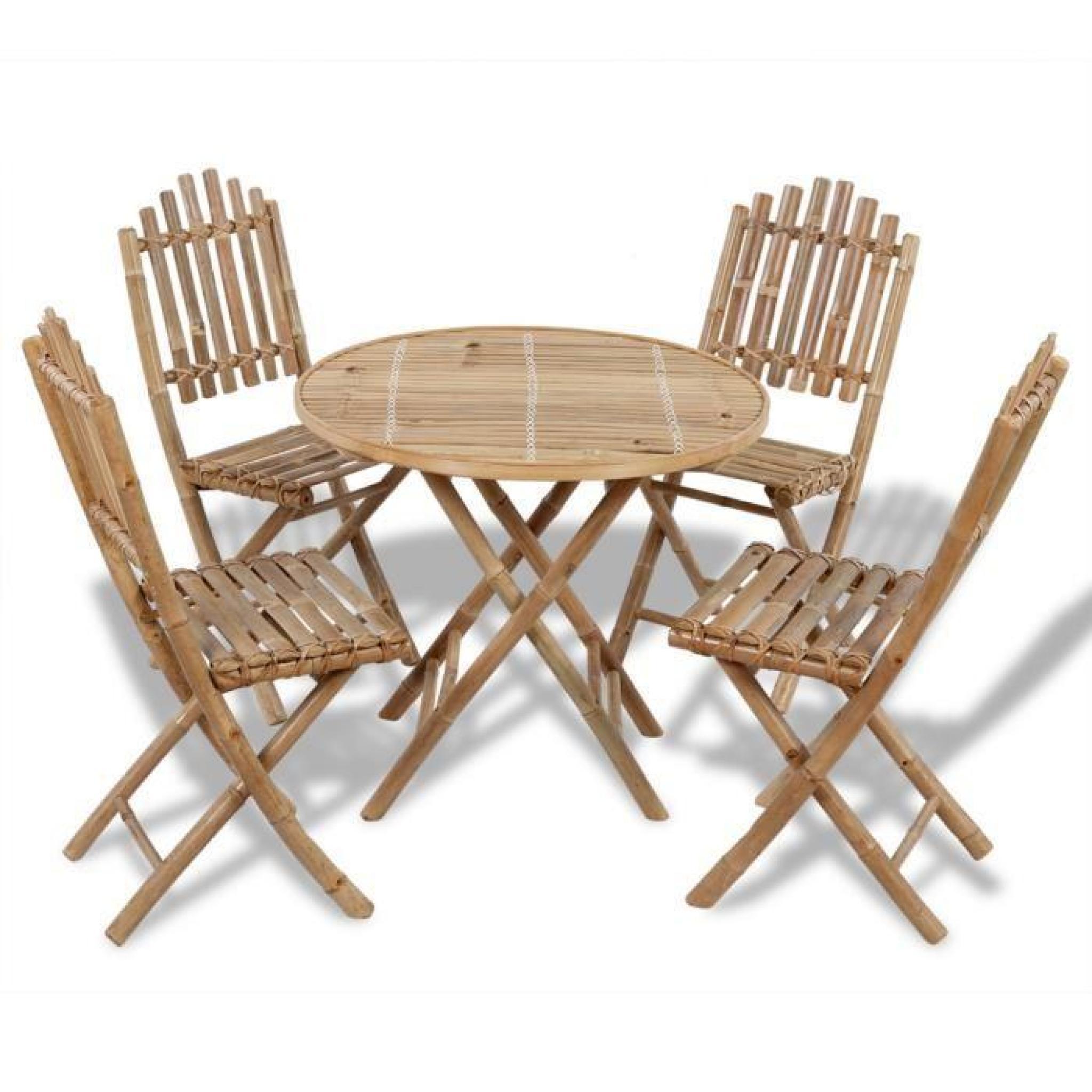 ensemble 1 table et 4pcs chaises d 39 ext rieur pliables en. Black Bedroom Furniture Sets. Home Design Ideas