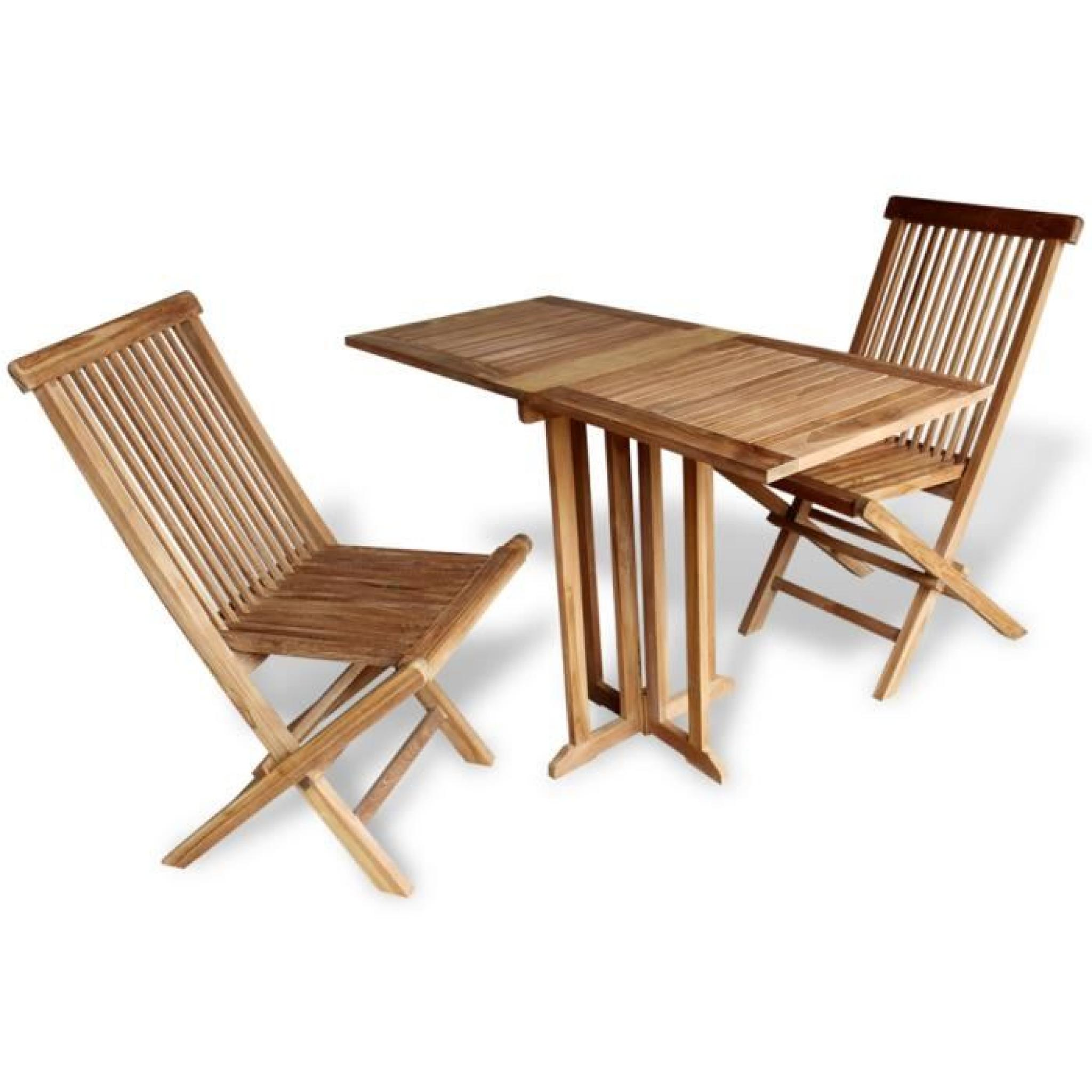 Ensemble 3pcs meuble manger 1 table de papillon et 2 - Table balcon pas cher ...