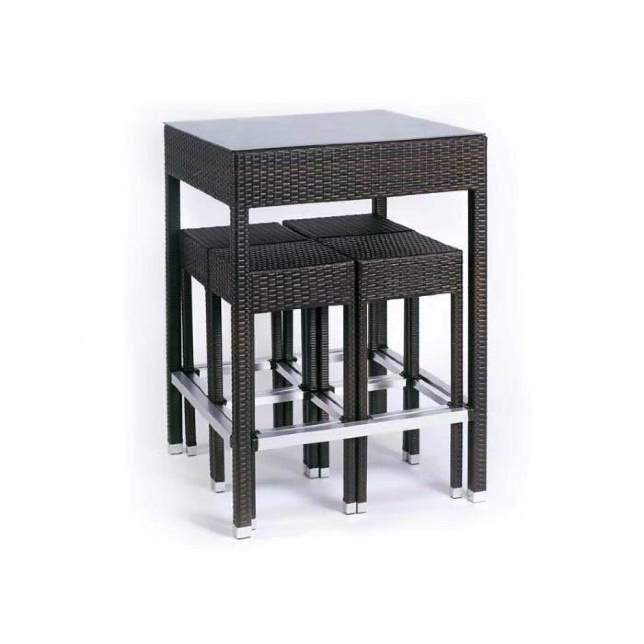 Ensemble Alto - Table haute + 4 tabourets