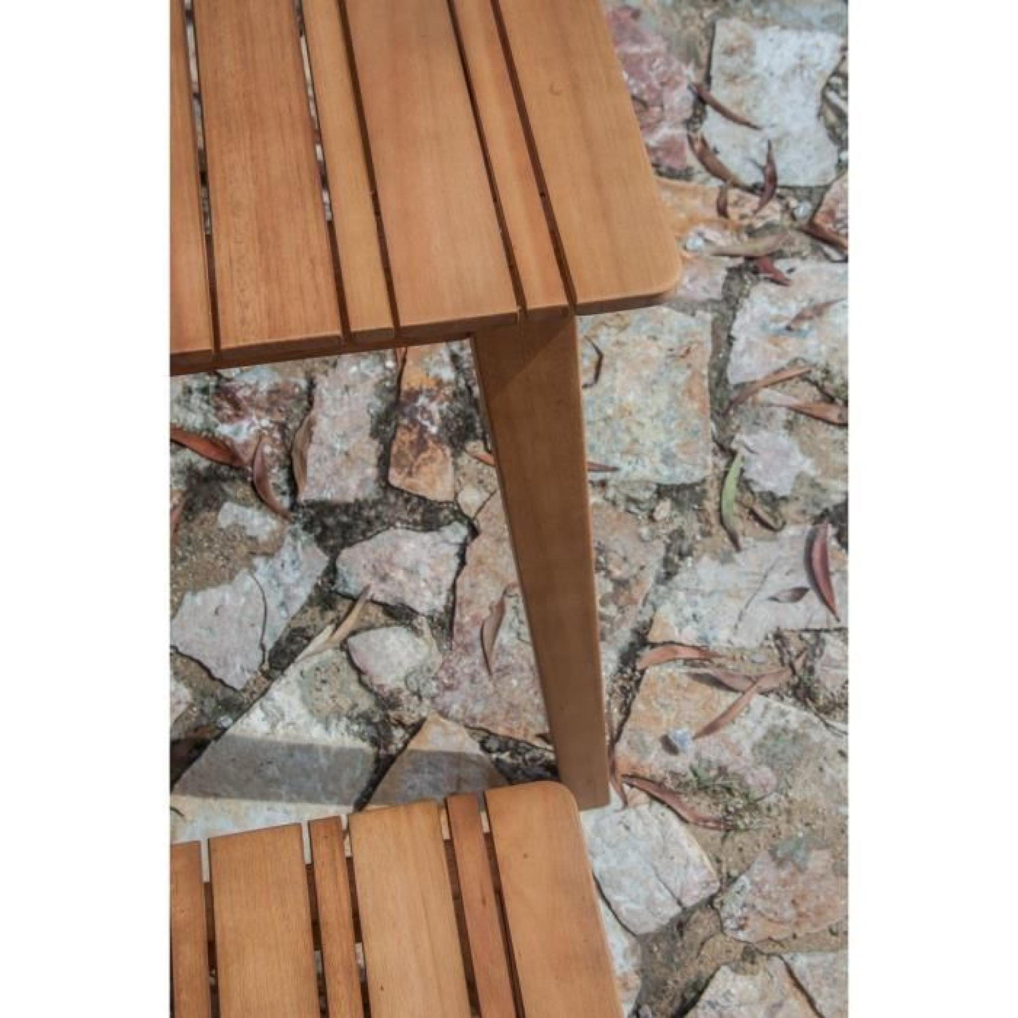 CAP Ensemble de jardin en bois d\'Eucalyptus 4 places - Marron ...