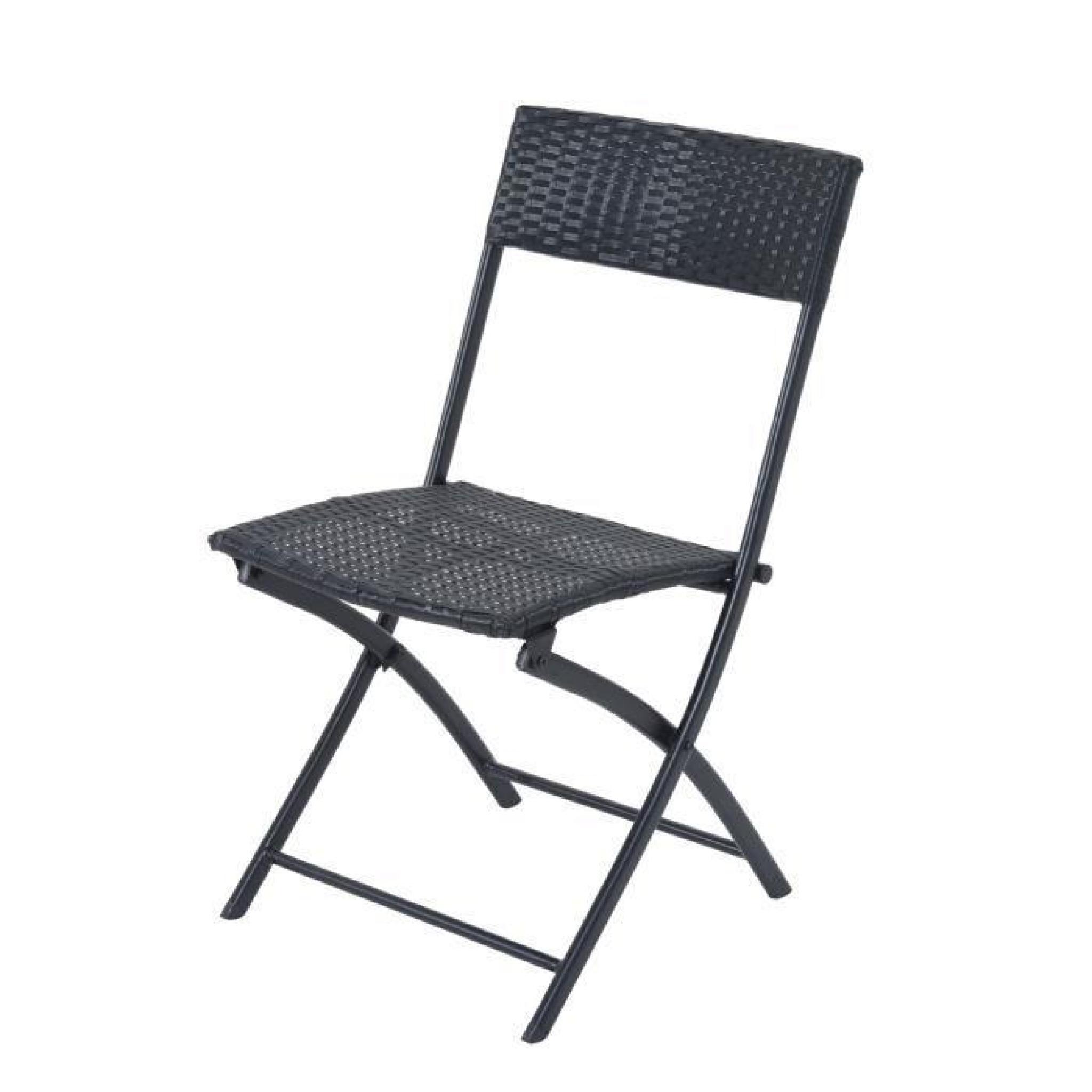 Ensemble meuble de jardin balcon bistrot table carr 2 - Table de jardin tresse pas cher ...