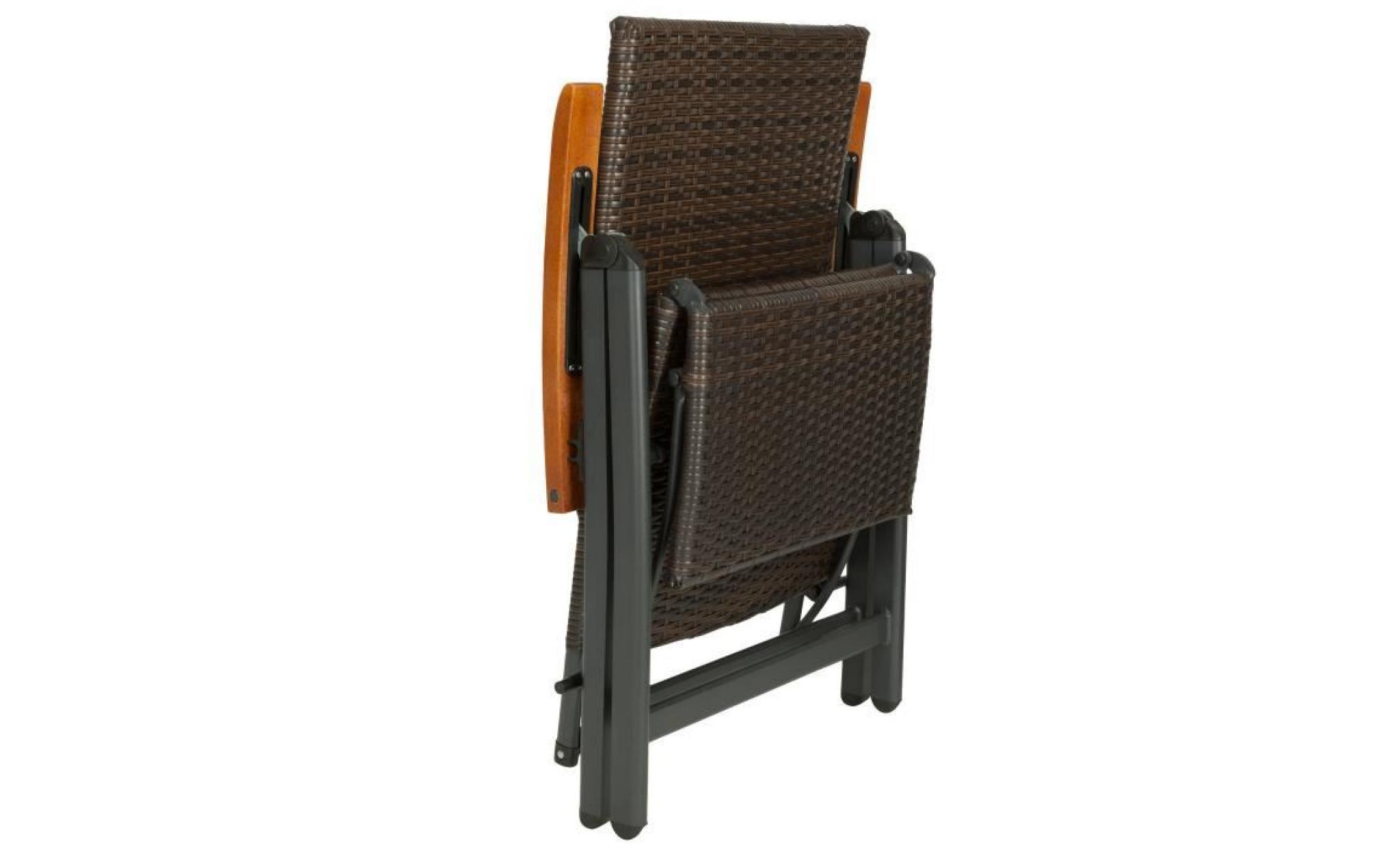 fauteuil chaise longue de relaxation r glable pliant avec 1 repose pieds en rotin 69 cm x 58 cm. Black Bedroom Furniture Sets. Home Design Ideas