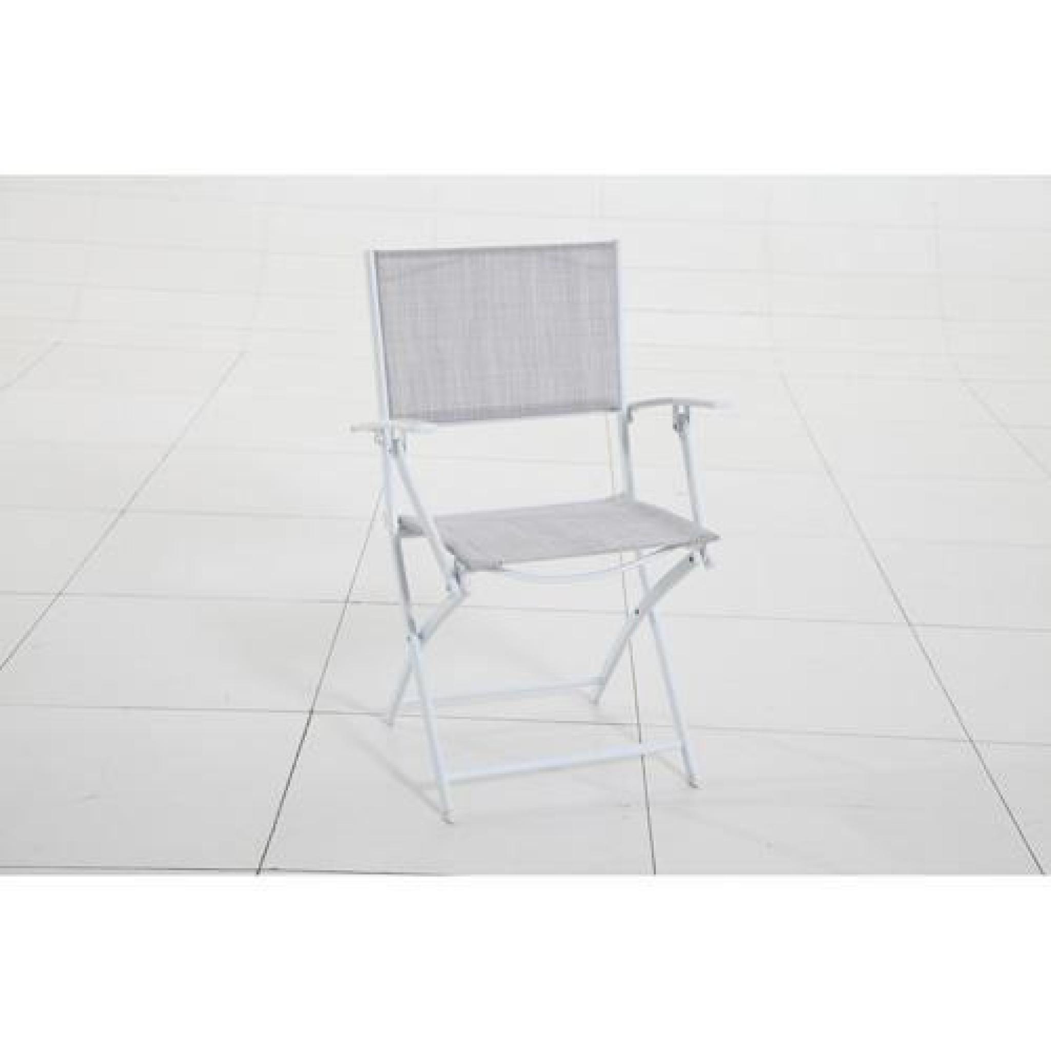 Fauteuil d 39 ext rieur modula pliant taupe chin achat vente fauteuil - Fauteuil exterieur design pas cher ...