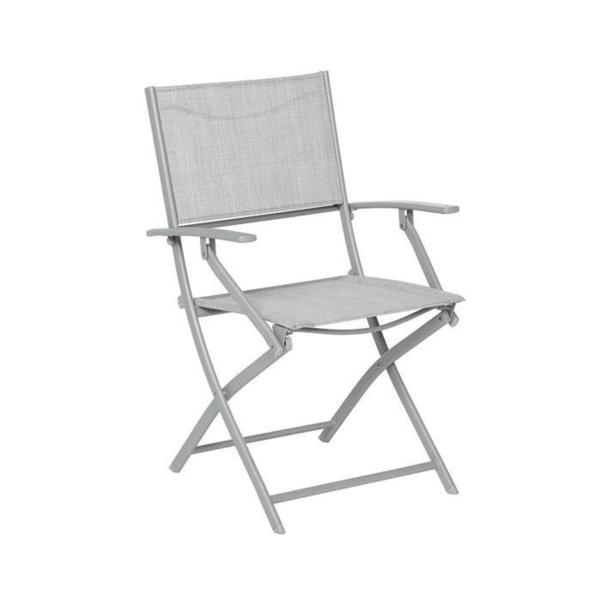 fauteuil pliant hesp ride modula galet chin silver mat achat vente fauteuil de jardin pliant. Black Bedroom Furniture Sets. Home Design Ideas