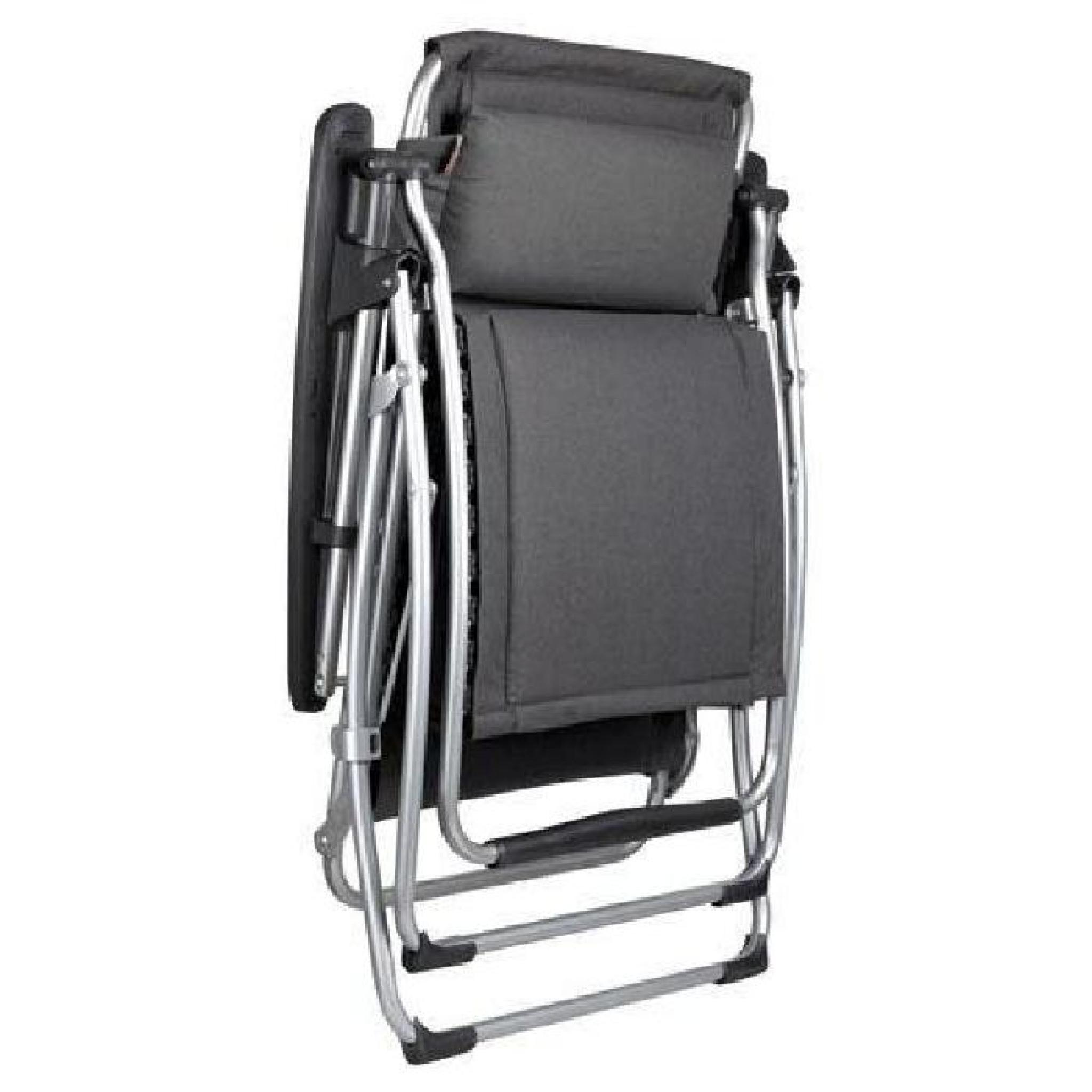 fauteuil relax futura clippe ardoise lafuma achat. Black Bedroom Furniture Sets. Home Design Ideas