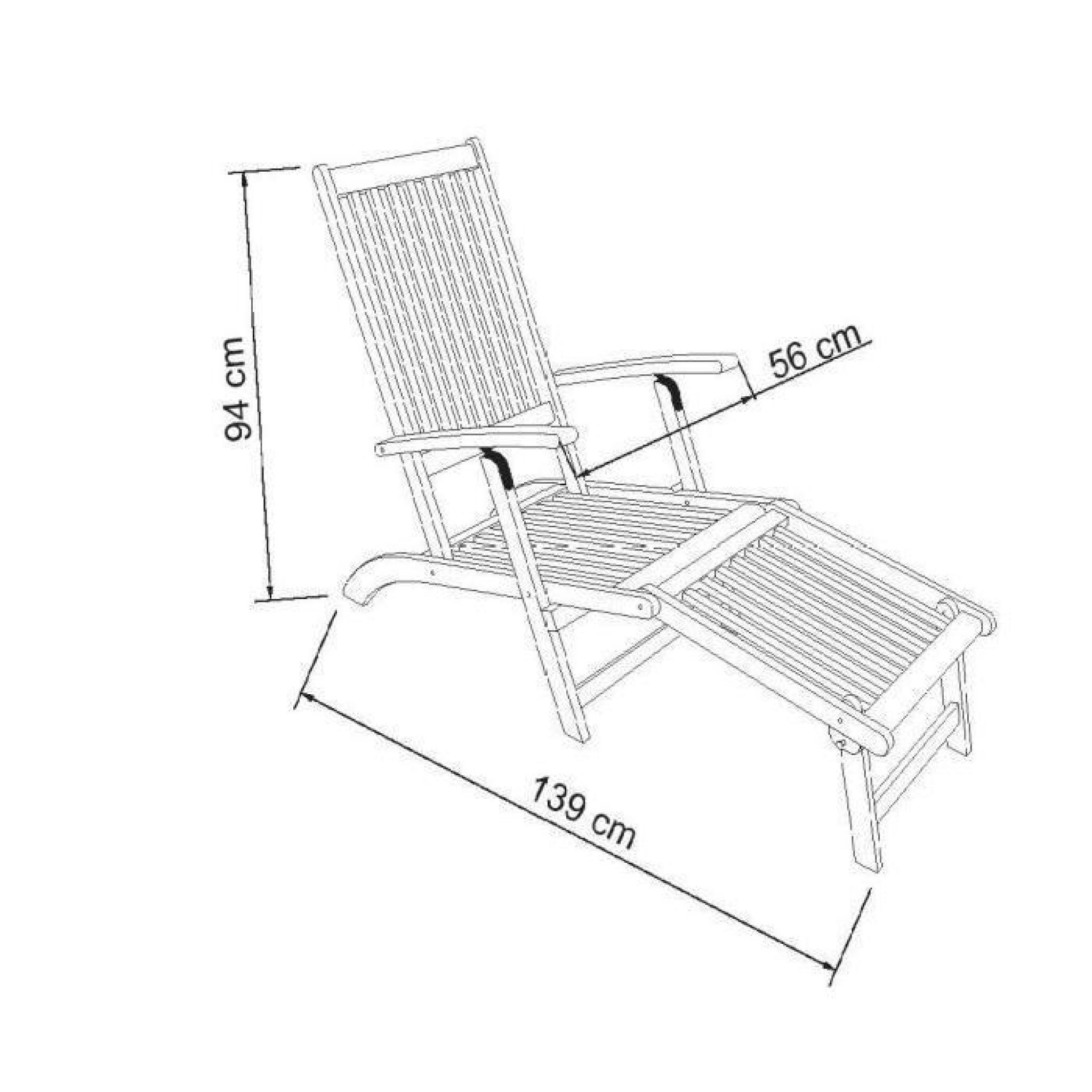 Finlandek chaise longue en eucalyptus avec matelas gris for Chaise longue de jardin pas cher