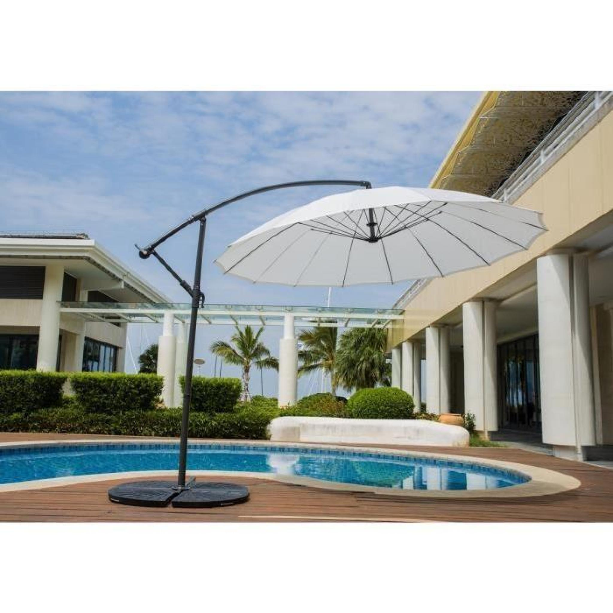 finlandek parasol d port shanghai aluminium 3m blanc hyoty achat vente parasol deporte. Black Bedroom Furniture Sets. Home Design Ideas