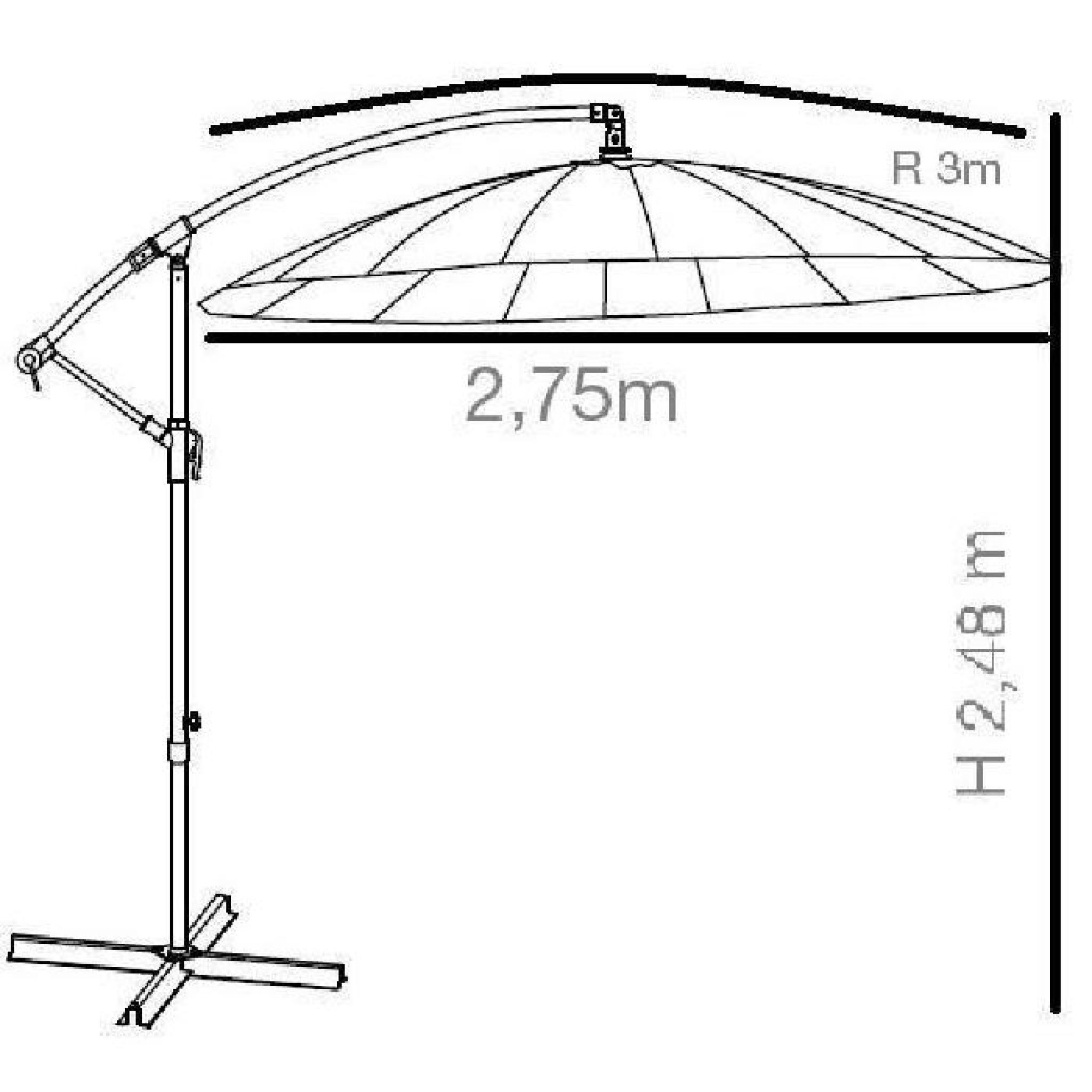 parasol deporte latest kit parasol deporte avec pied olefin xl taupe au meilleur prix. Black Bedroom Furniture Sets. Home Design Ideas
