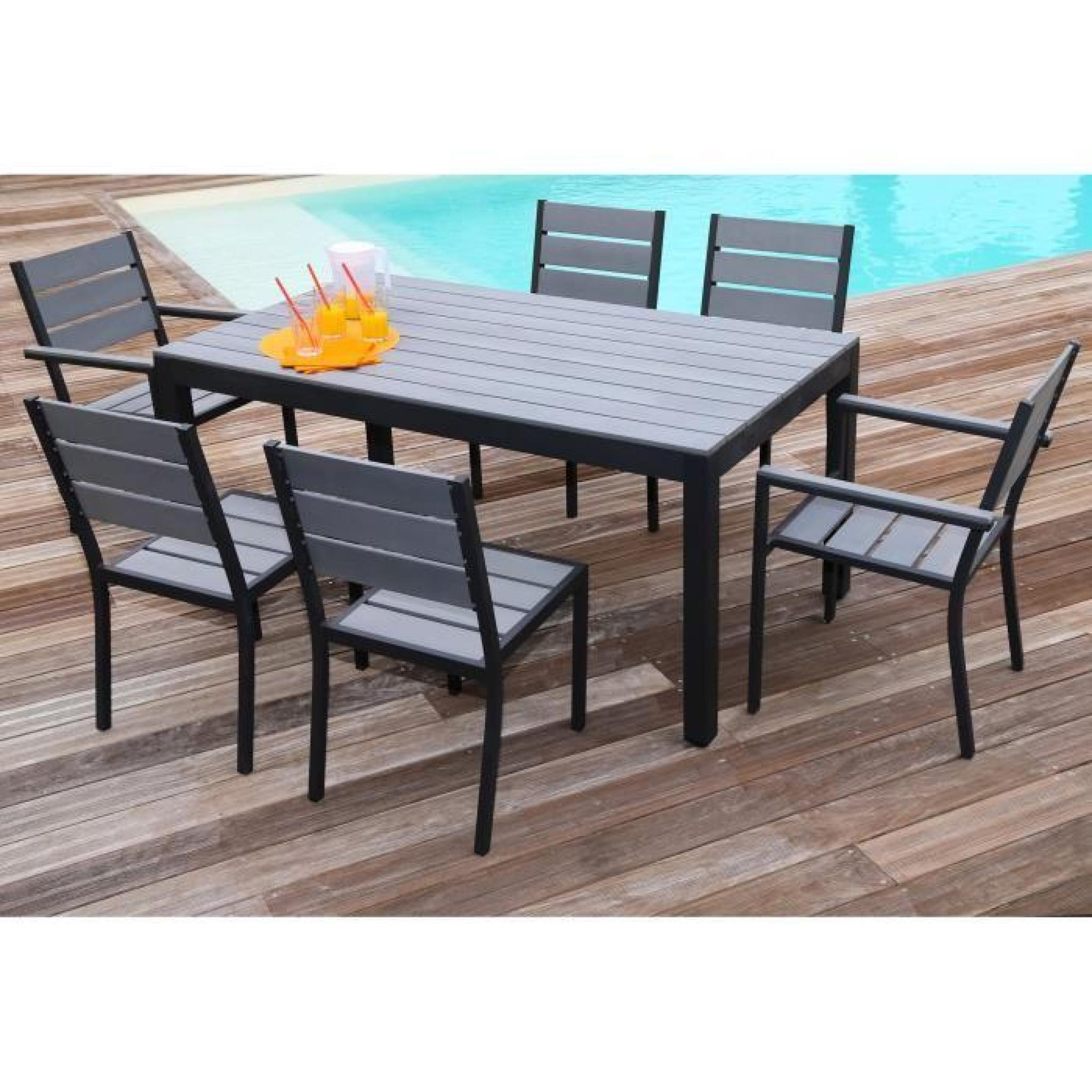 floride ensemble table de jardin 160 cm 2 fauteuils 4. Black Bedroom Furniture Sets. Home Design Ideas