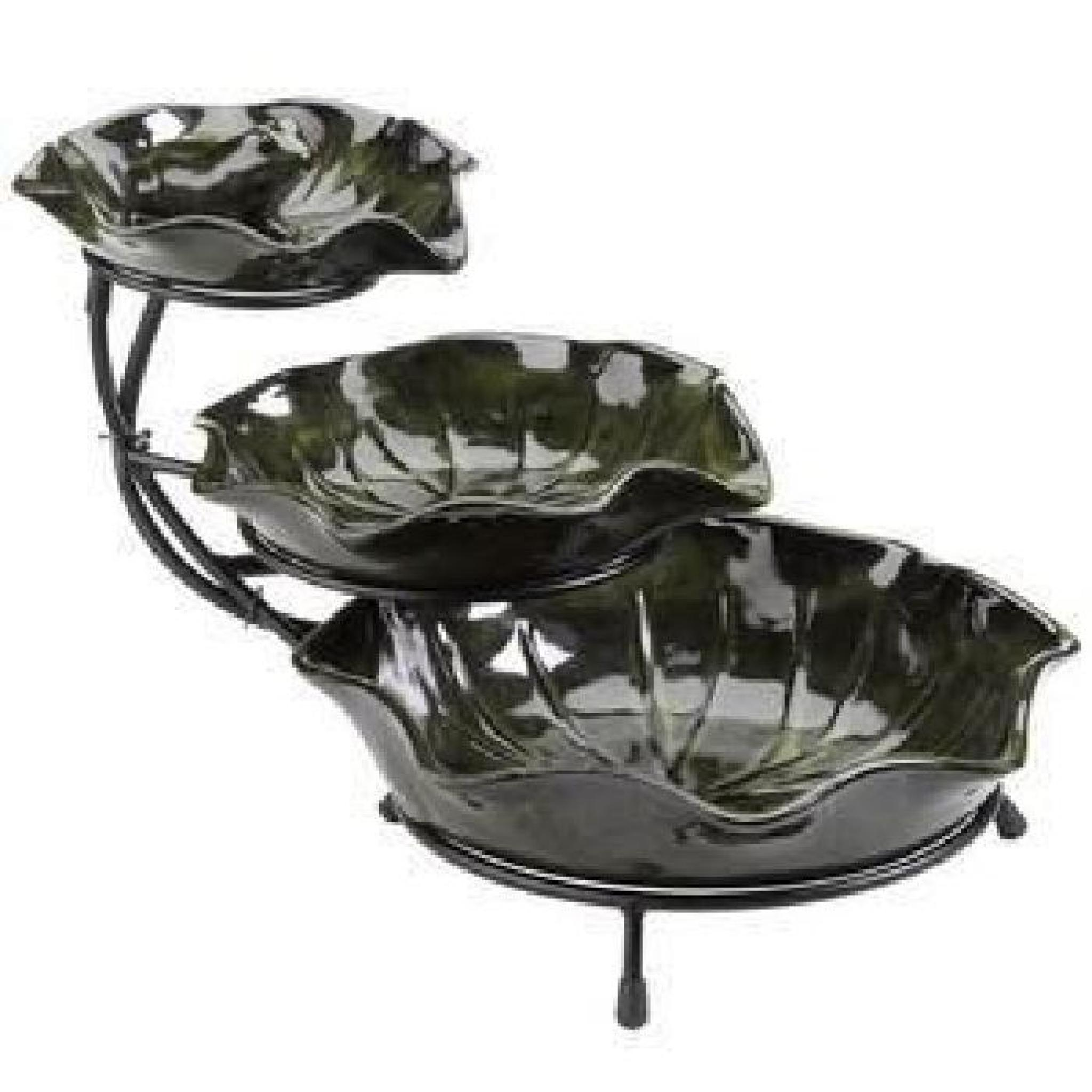 fontaine cascade solaire lilypad achat vente fontaine de jardin pas cher. Black Bedroom Furniture Sets. Home Design Ideas