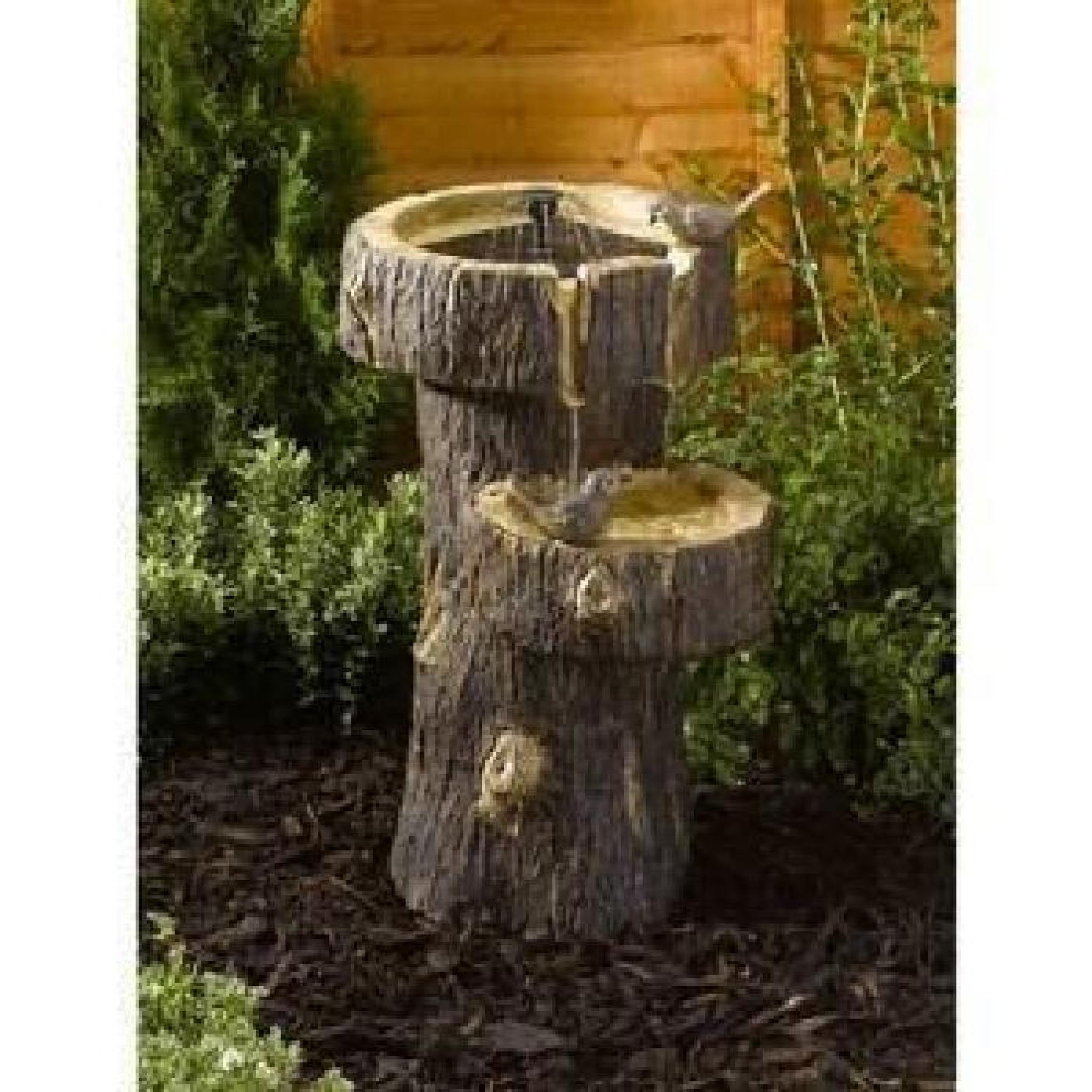 Fontaine solaire tronc d arbre achat vente decoration - Petite fontaine de jardin pas cher ...