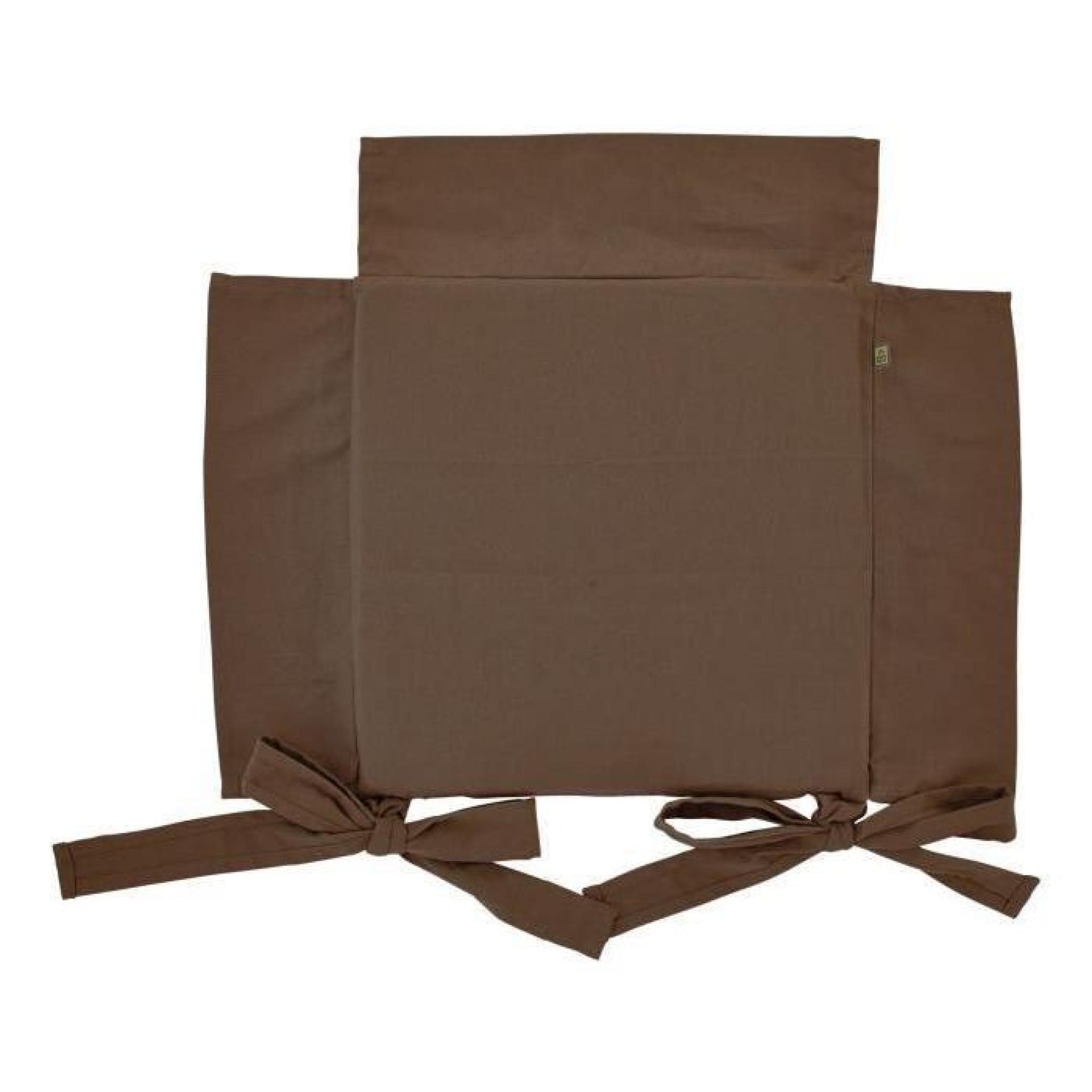 Galette de chaise 6 Java marron