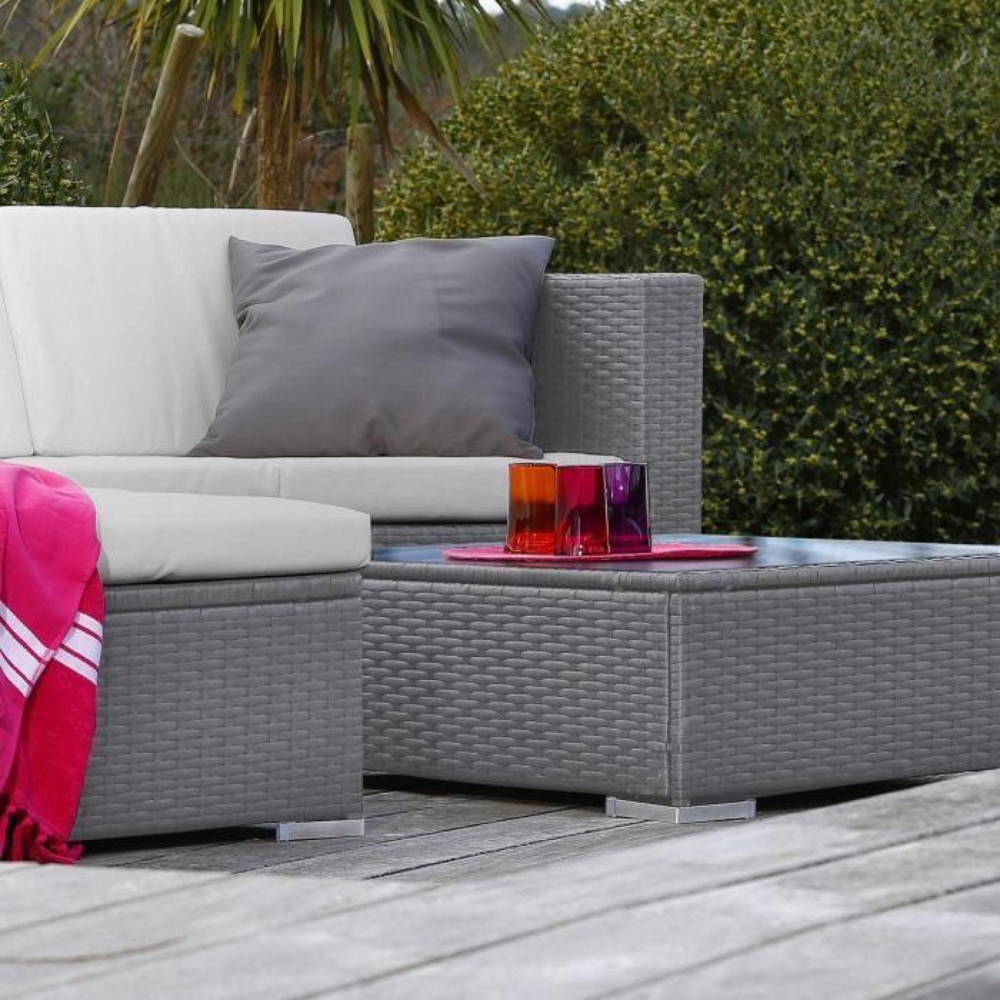 stunning goa salon de jardin en resine tressee gris photos. Black Bedroom Furniture Sets. Home Design Ideas