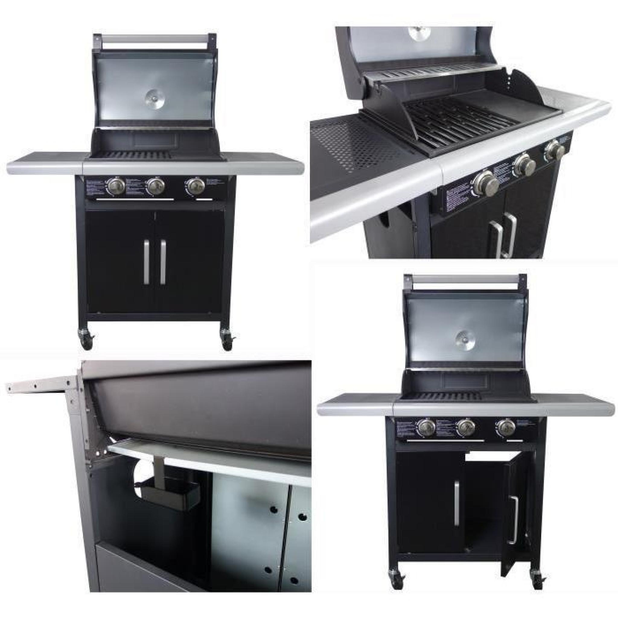 grill garden barbecue wave américain à gaz 3 brûle