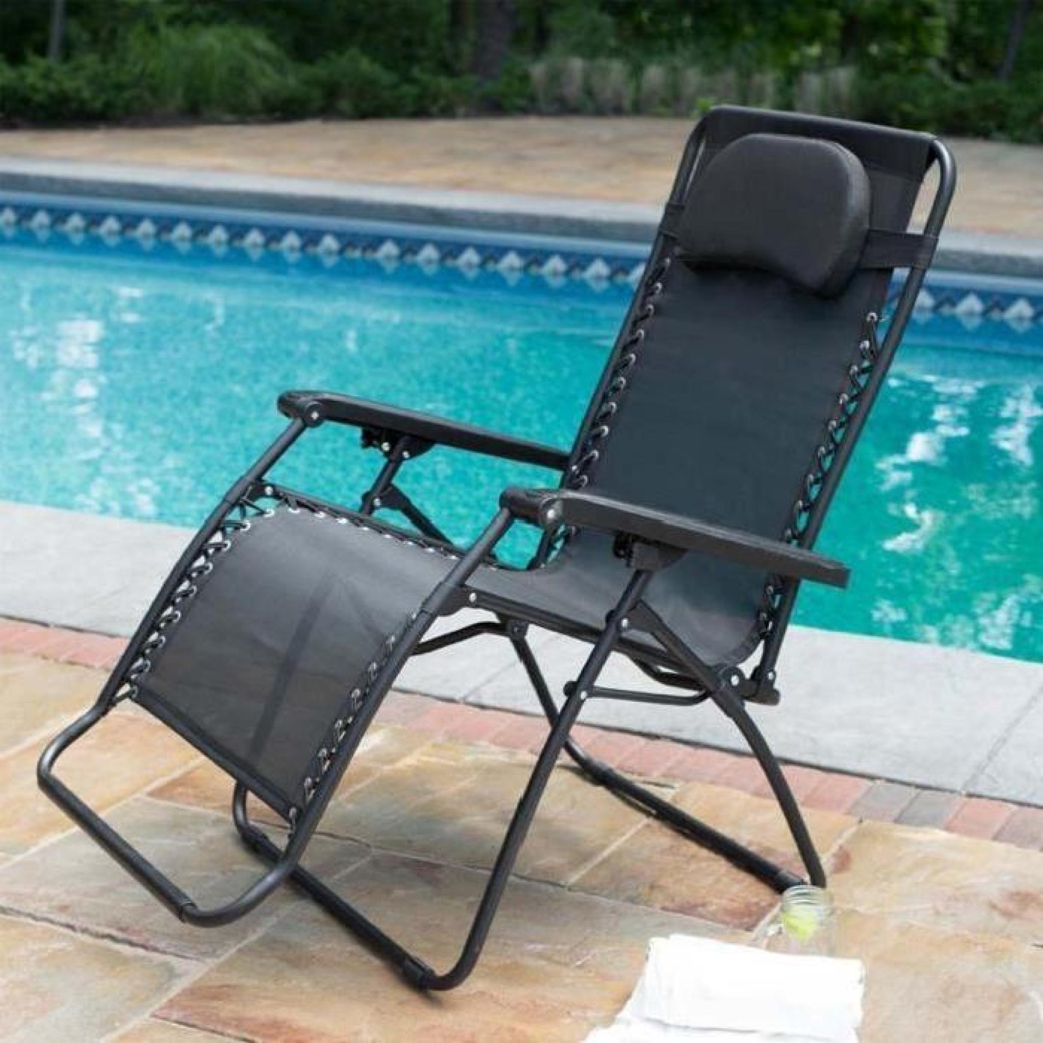 Homdox chaise pliant chaise longue inclinable salon - Chaise longue de jardin pas cher ...