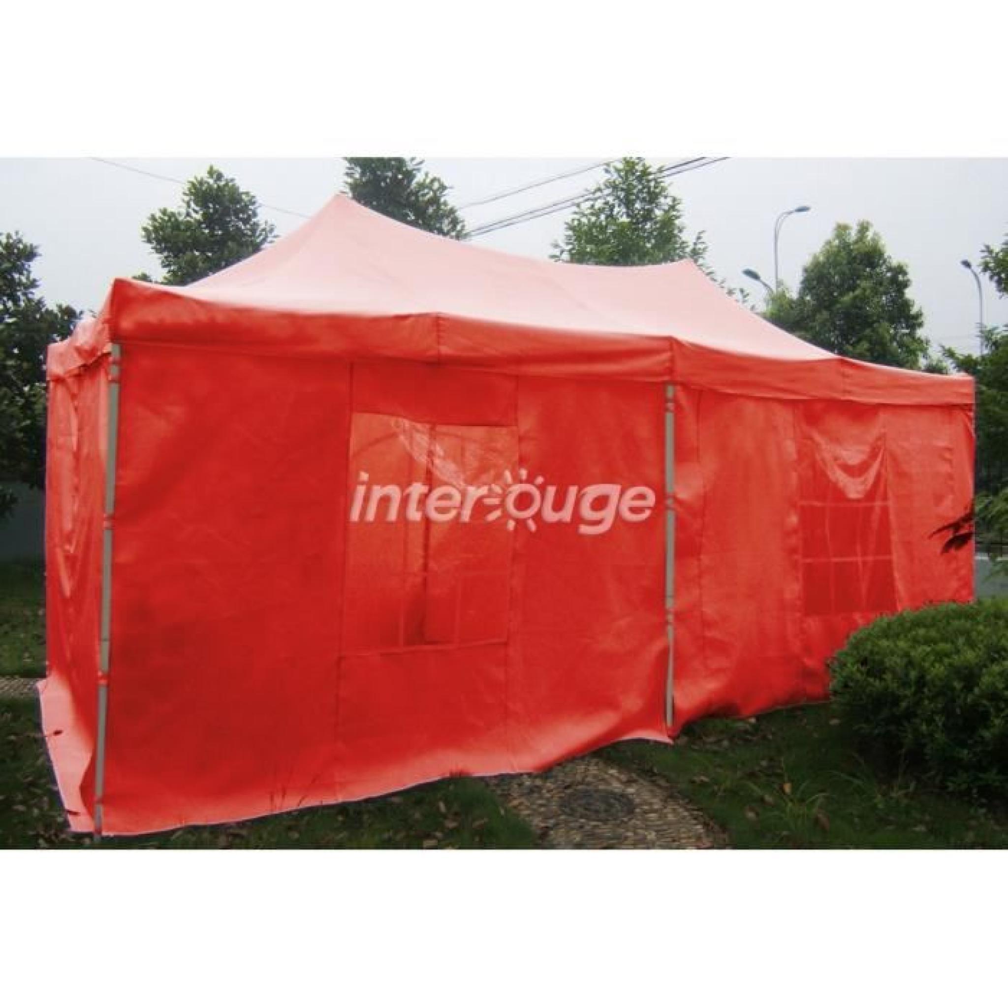 interouge tente tonnelle pliante easy30 3x6m tubes en acier 30 mm avec b ches. Black Bedroom Furniture Sets. Home Design Ideas