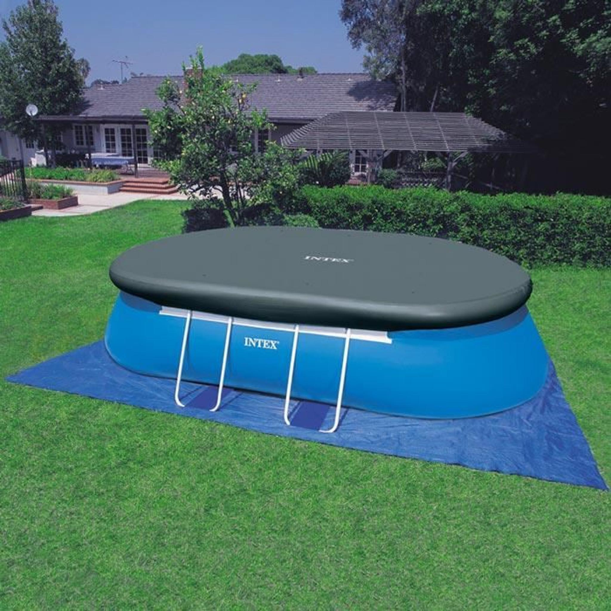 Intex 28192 piscine hors sol oval frame 549x305x107 - Piscine rectangulaire hors sol intex ...