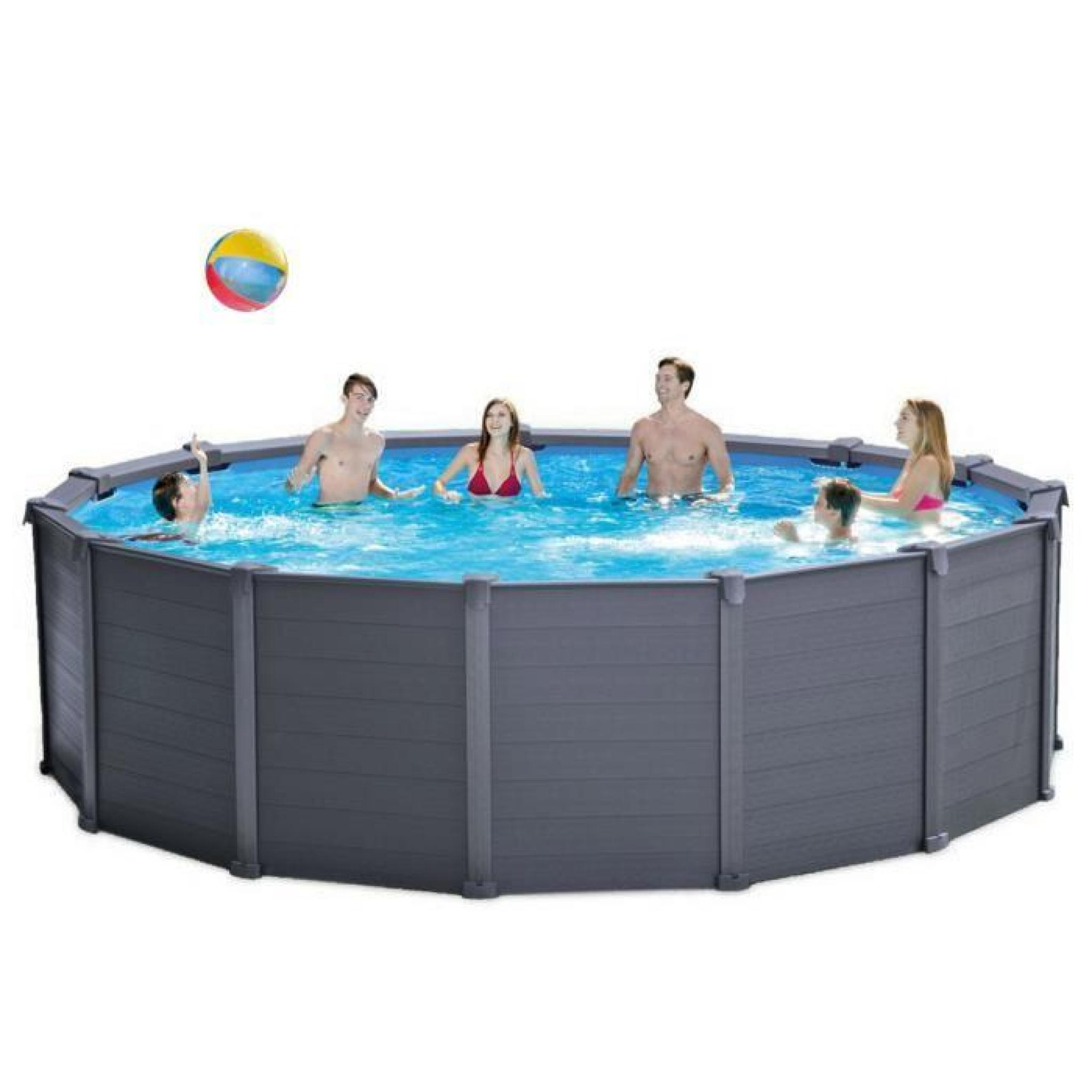 intex 28382 piscine hors sol graphite panel pool 478x124 achat vente piscine autoportante pas. Black Bedroom Furniture Sets. Home Design Ideas