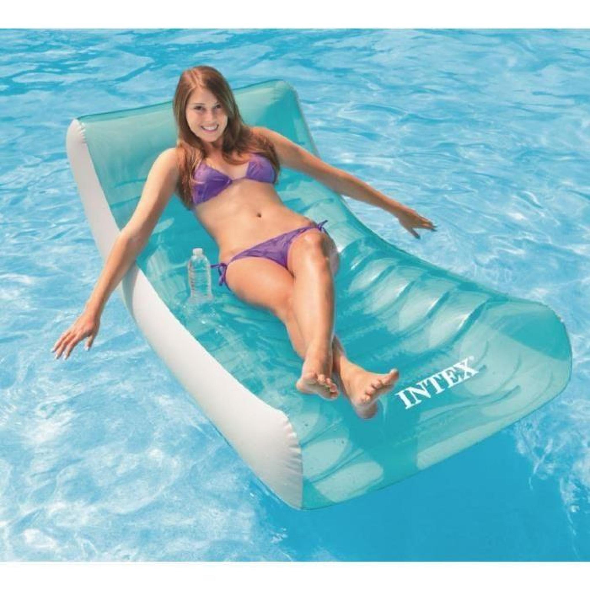 Intex matelas gonflable adulte pour piscine lounge 188 x 99 cm achat vente chaise longue - Matelas gonflable piscine pas cher ...