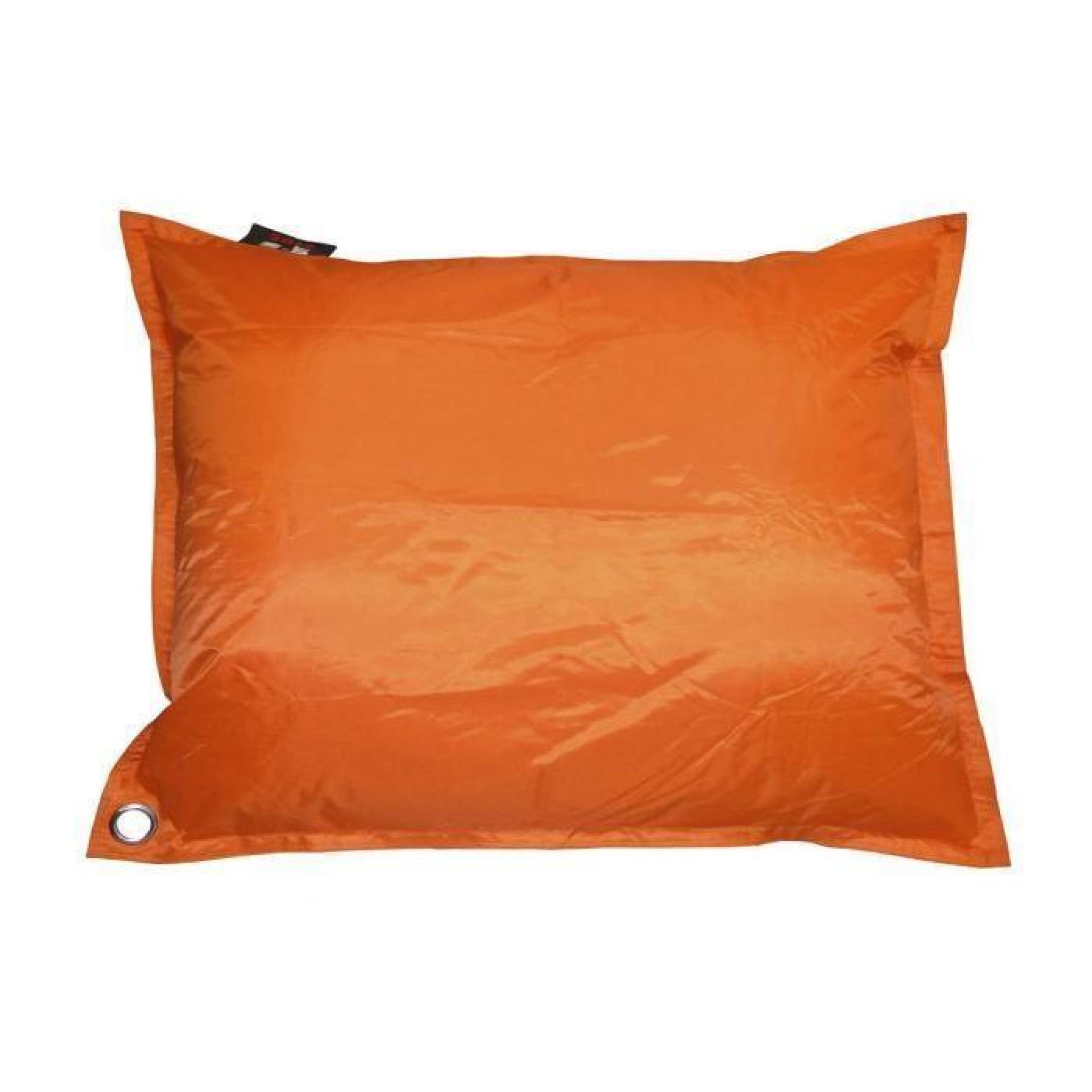 Java Pouf Geant Impermeable 110x130 Cm Orange Achat Vente Pouf
