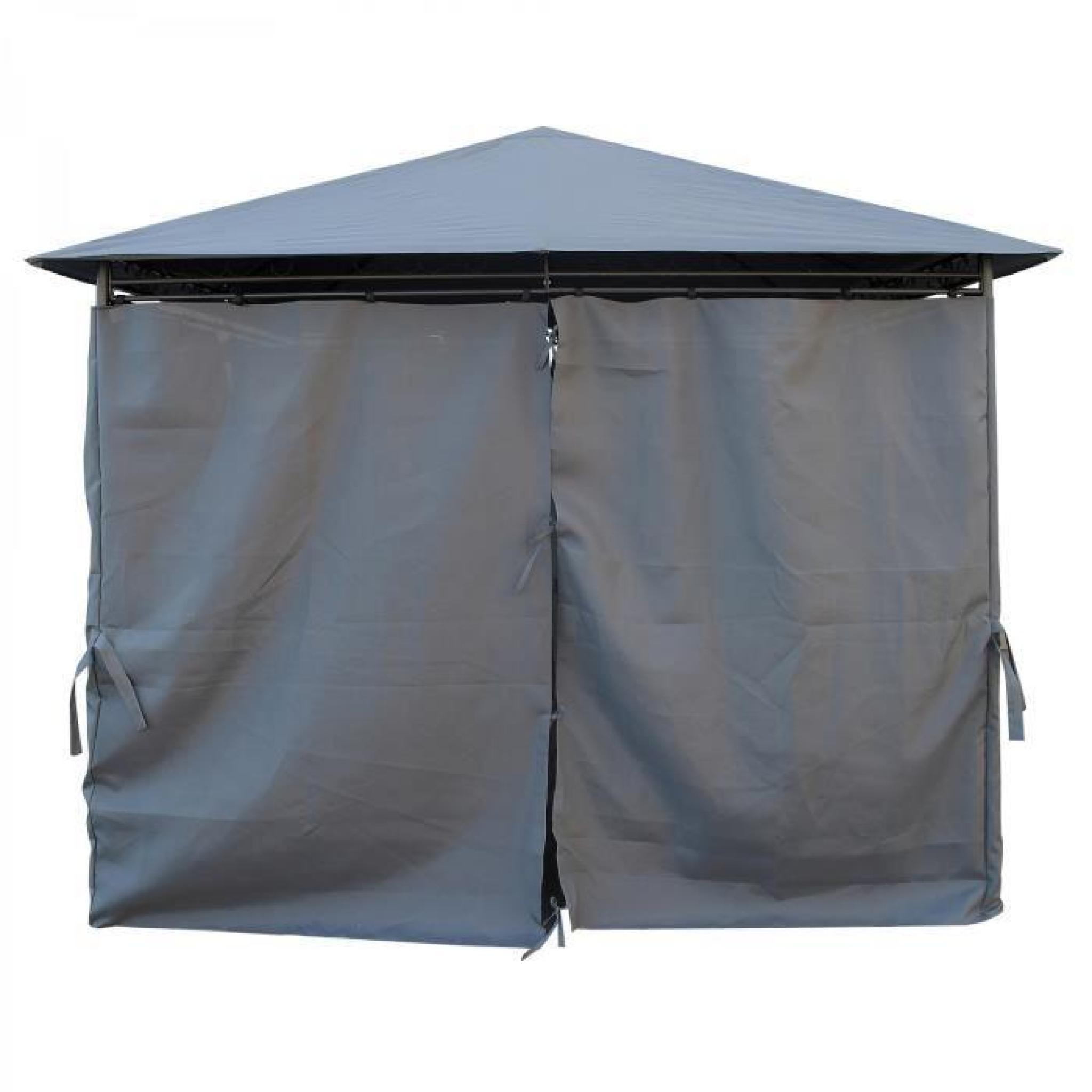 kaligagan tente de jardin pergola 3x3m gris anthracite tonnelle barnum achat vente tonnelle. Black Bedroom Furniture Sets. Home Design Ideas