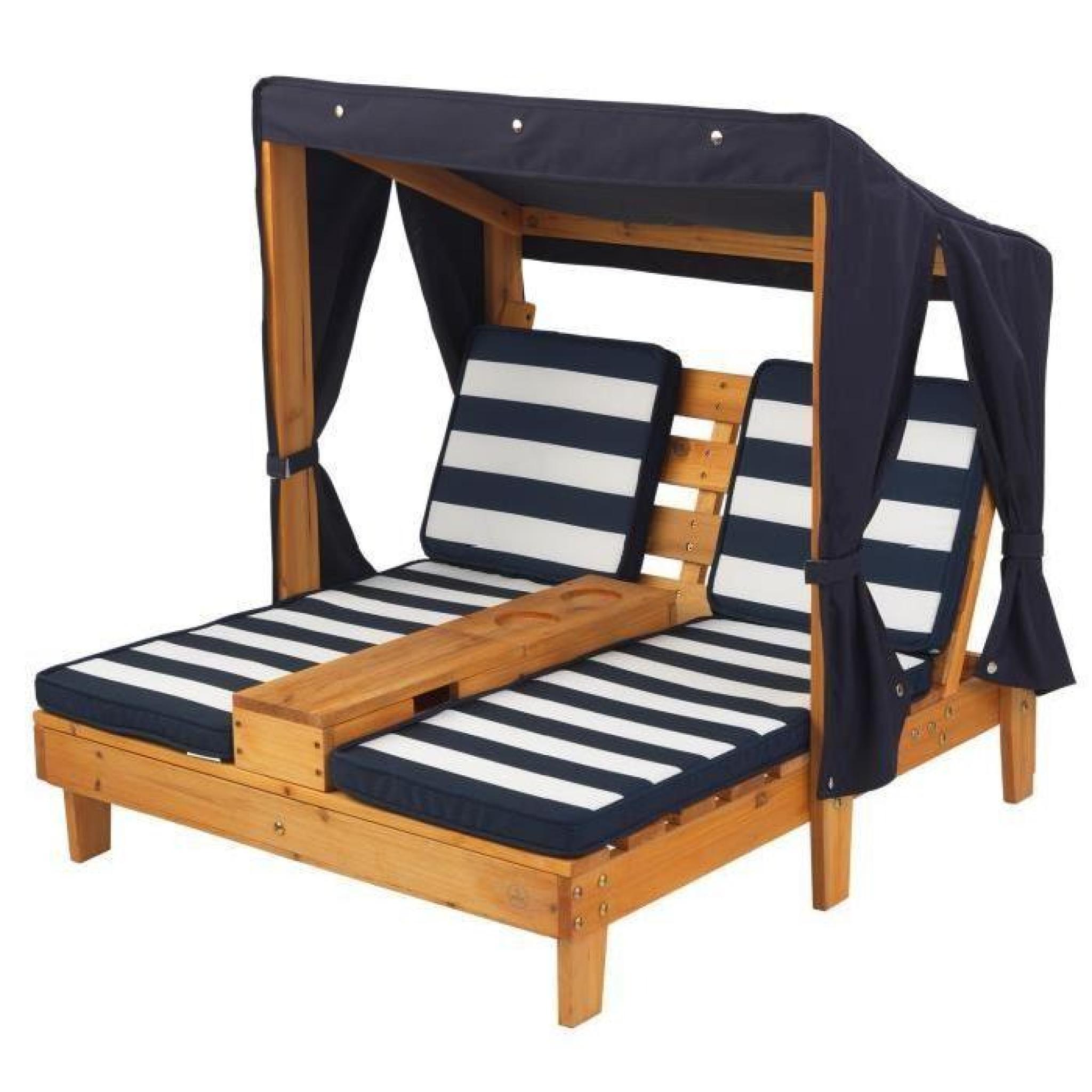 KIDKRAFT Double Chaise Longue Avec Porte Gobelets Pas Cher