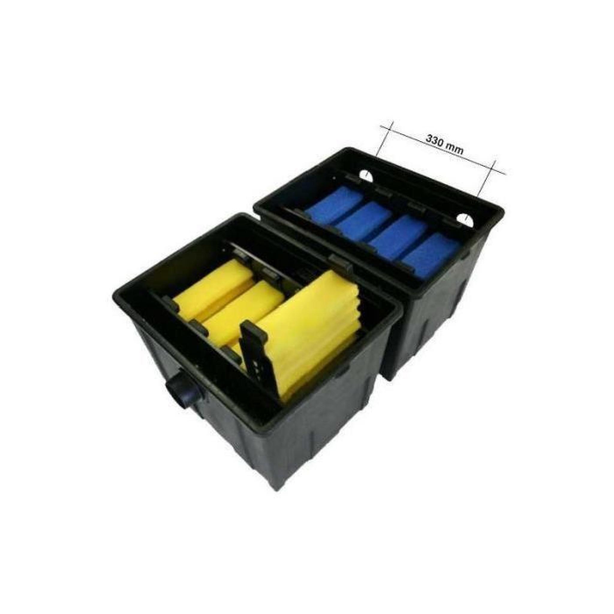 Kit de filtration complet avec uv pour bassin de jardin for Kit filtration bassin pas cher