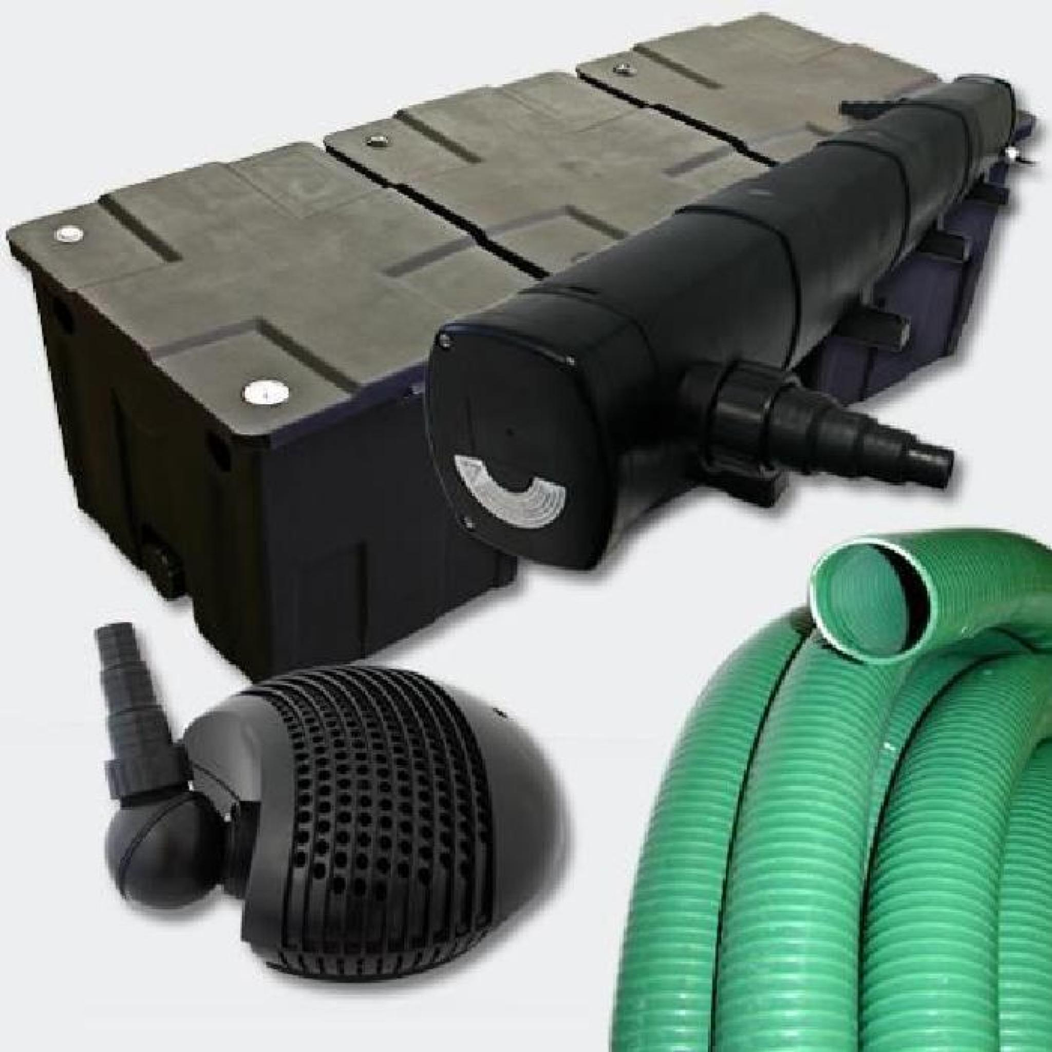 Kit de filtration uv pour bassin de jardin 40 60 m for Kit bassin pas cher