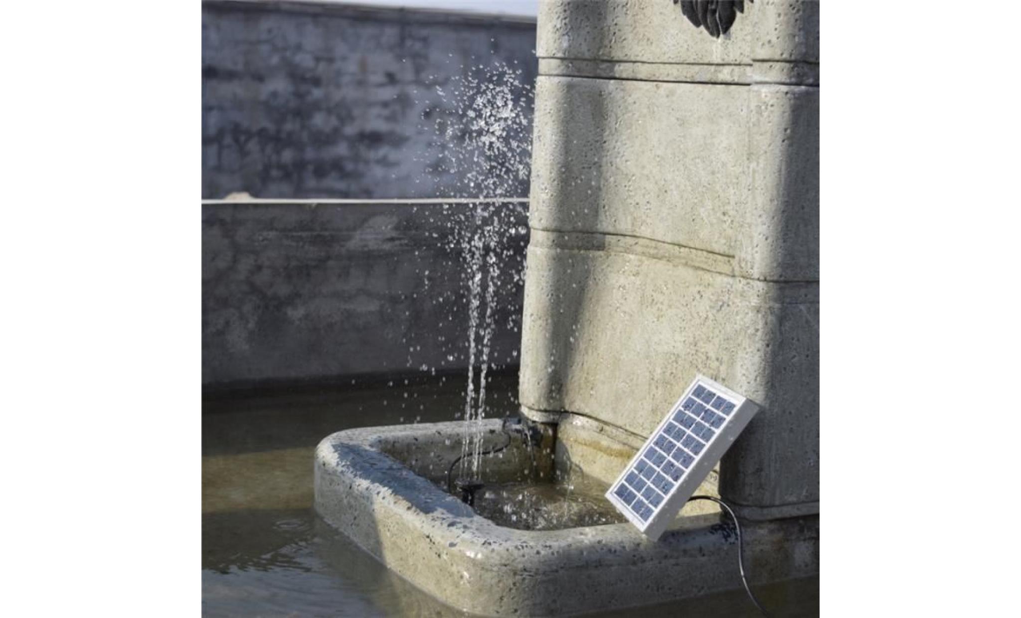 Kit pompe solaire pour bassin de jardin avec panneau for Pompe pour bassin poisson exterieur