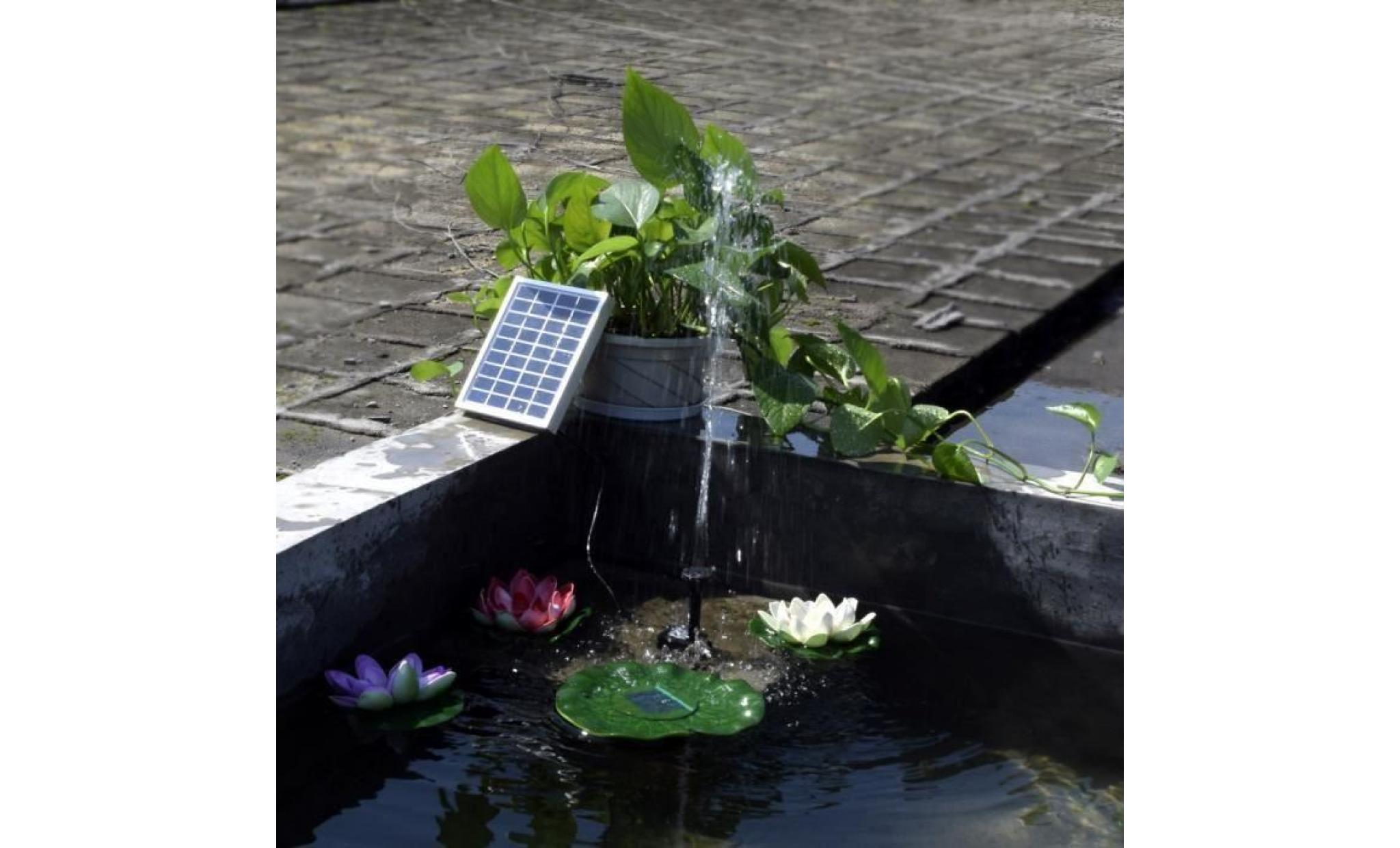 Kit pompe solaire pour bassin de jardin avec panneau for Bassin pour jardin pas cher