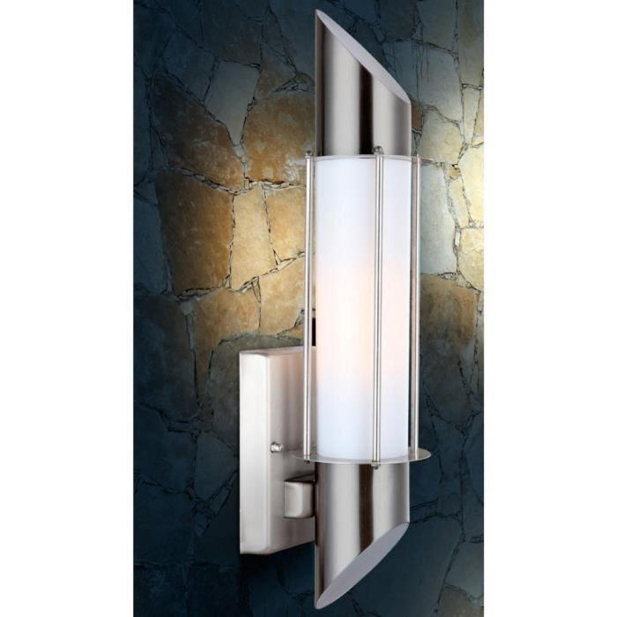 Lampe Exterieur Applique Lumiere Eclairage Acier Affine Globo Dacia