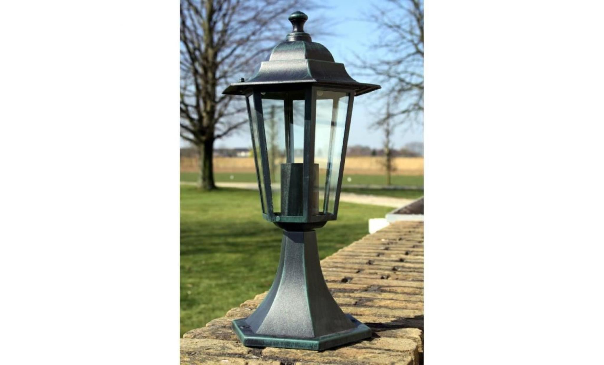 lampe extérieure sur pied 41 cm vert  achatvente