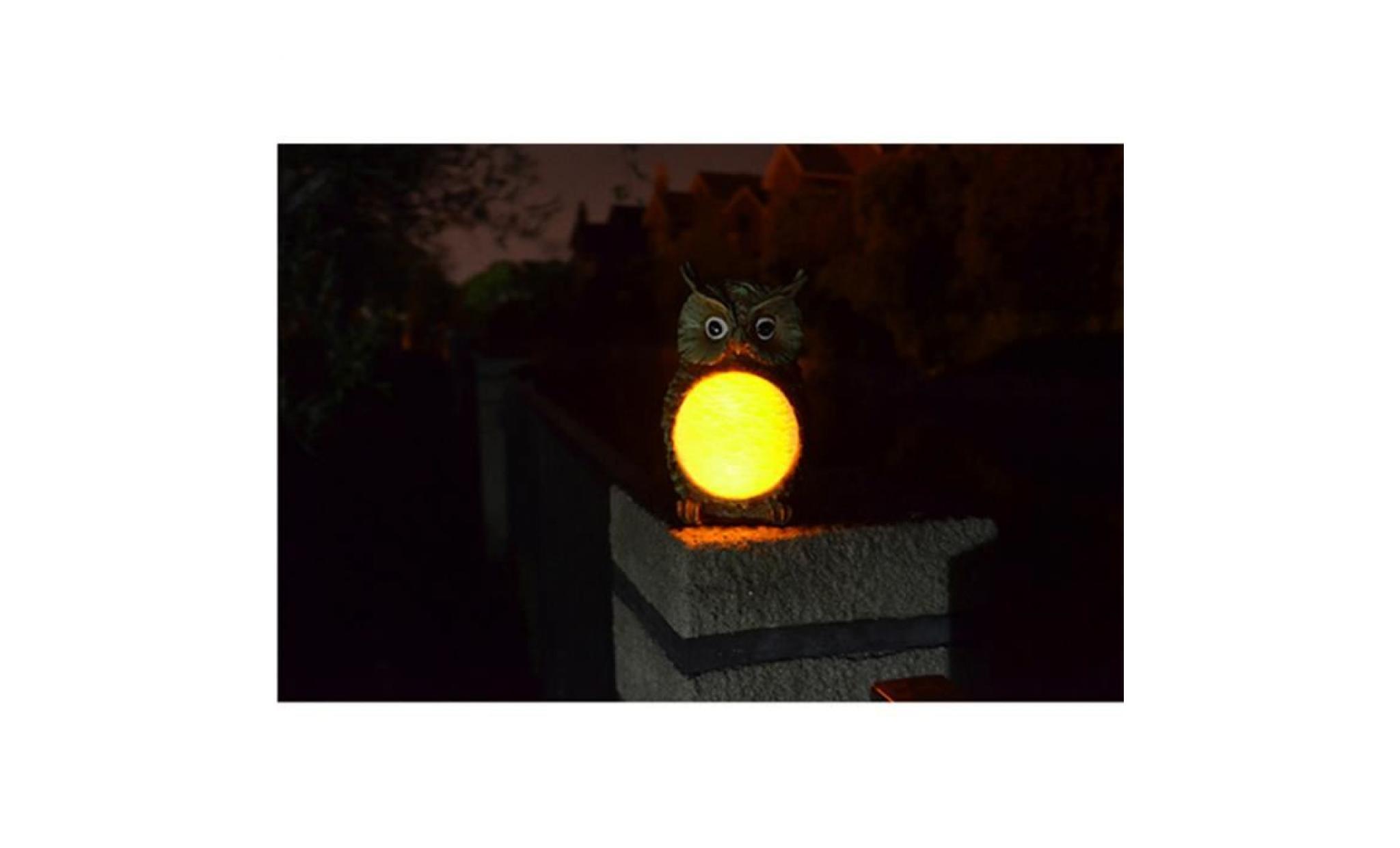lampe jardin solaire en forme d'hibou,résine , - Achat ...