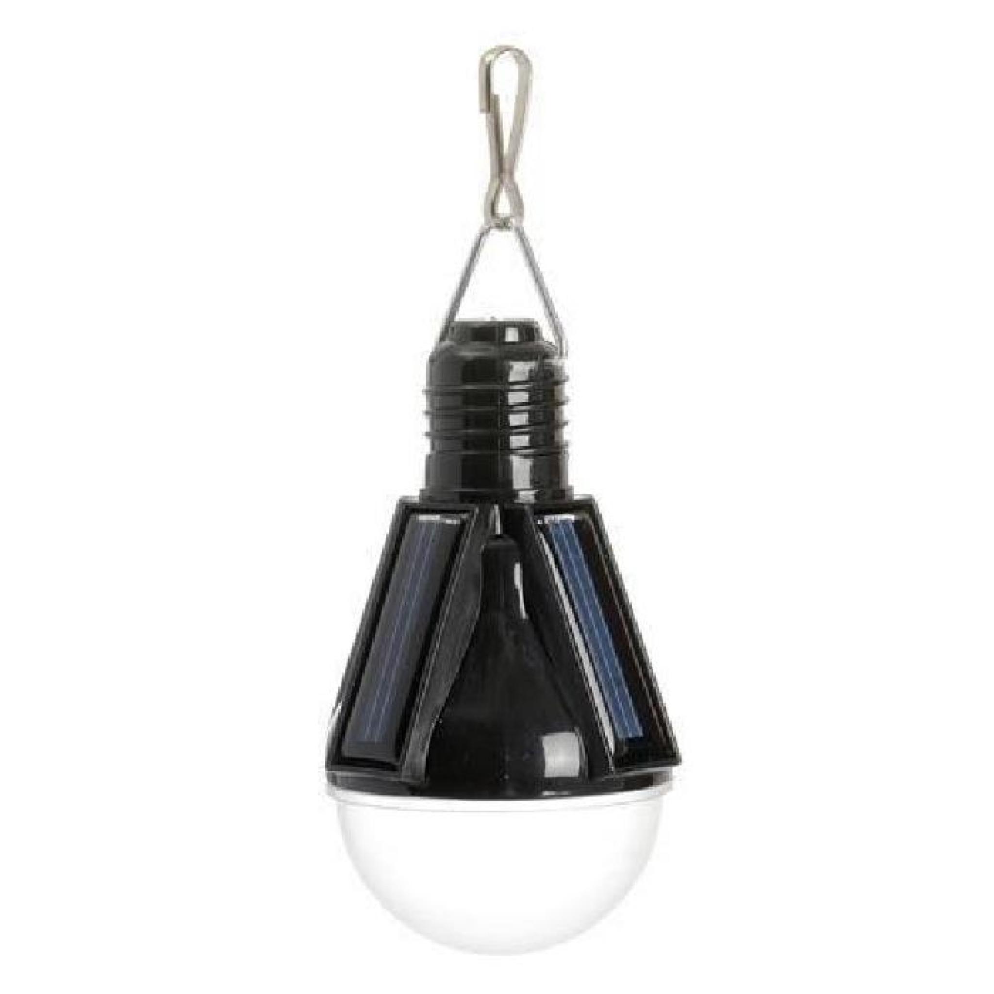 Lampe solaire suspendre ampoule rouge achat vente for Lampe a suspendre