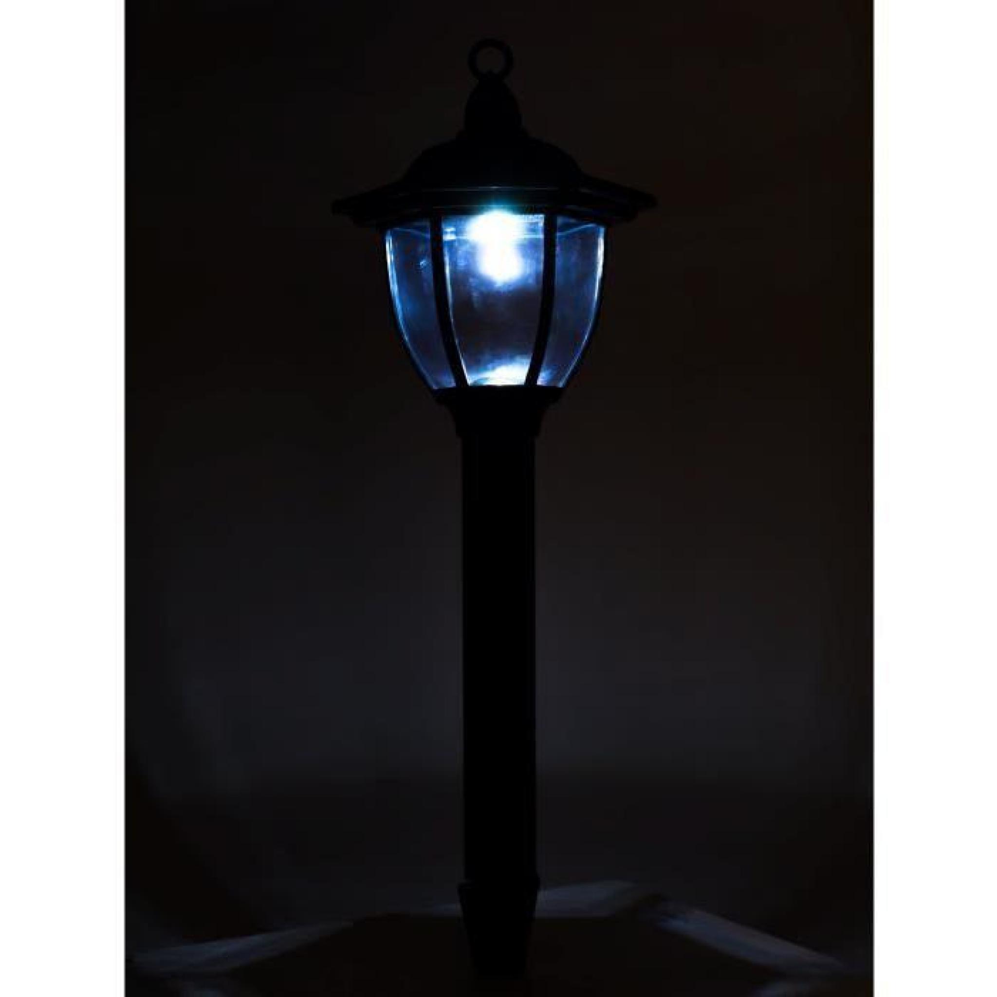 lanterne de jardin solaire 2 en 1 lot de 2 achat vente lampe solaire jardin pas cher. Black Bedroom Furniture Sets. Home Design Ideas