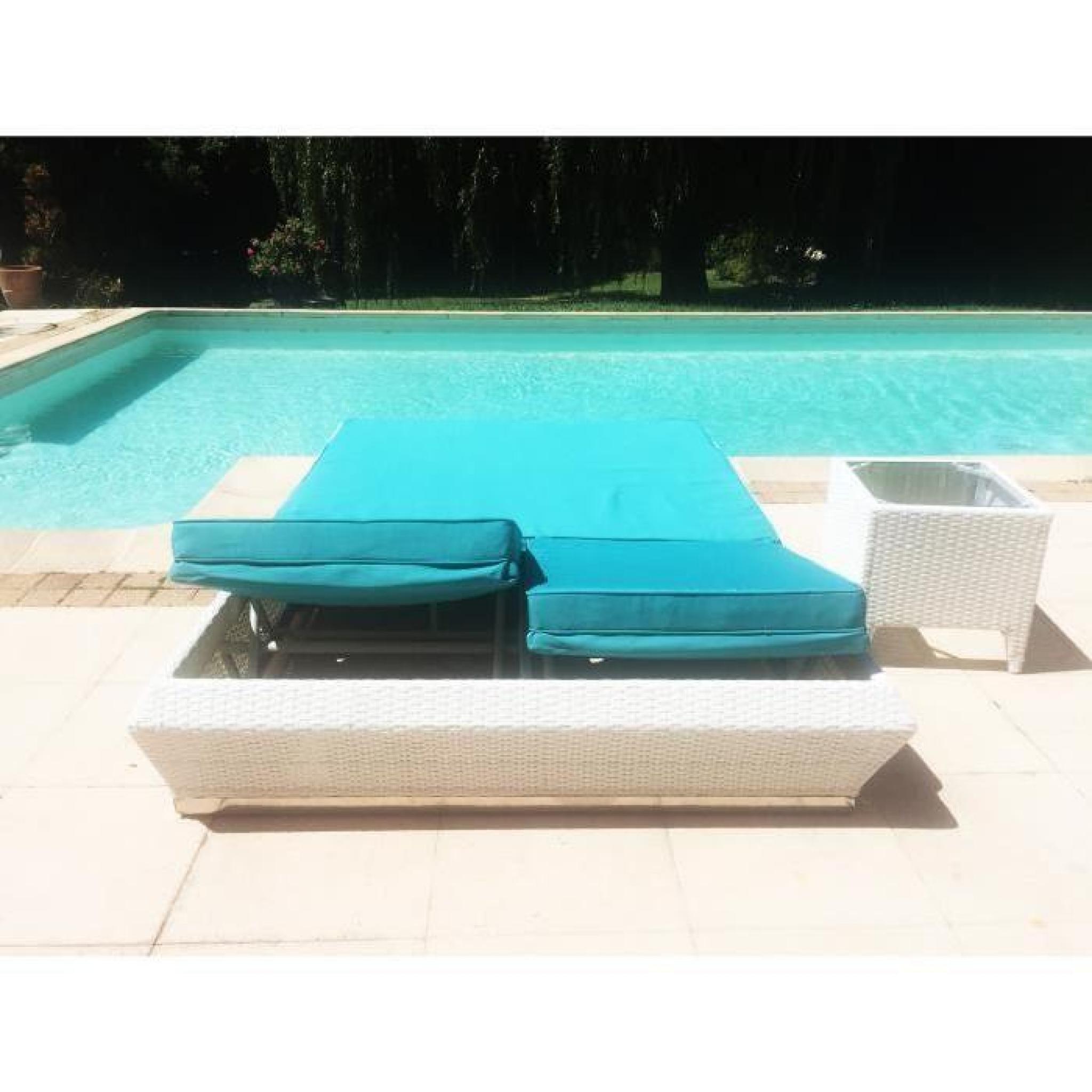 Lit Double Seasun Design Jardin Achat Vente Transat De Jardin